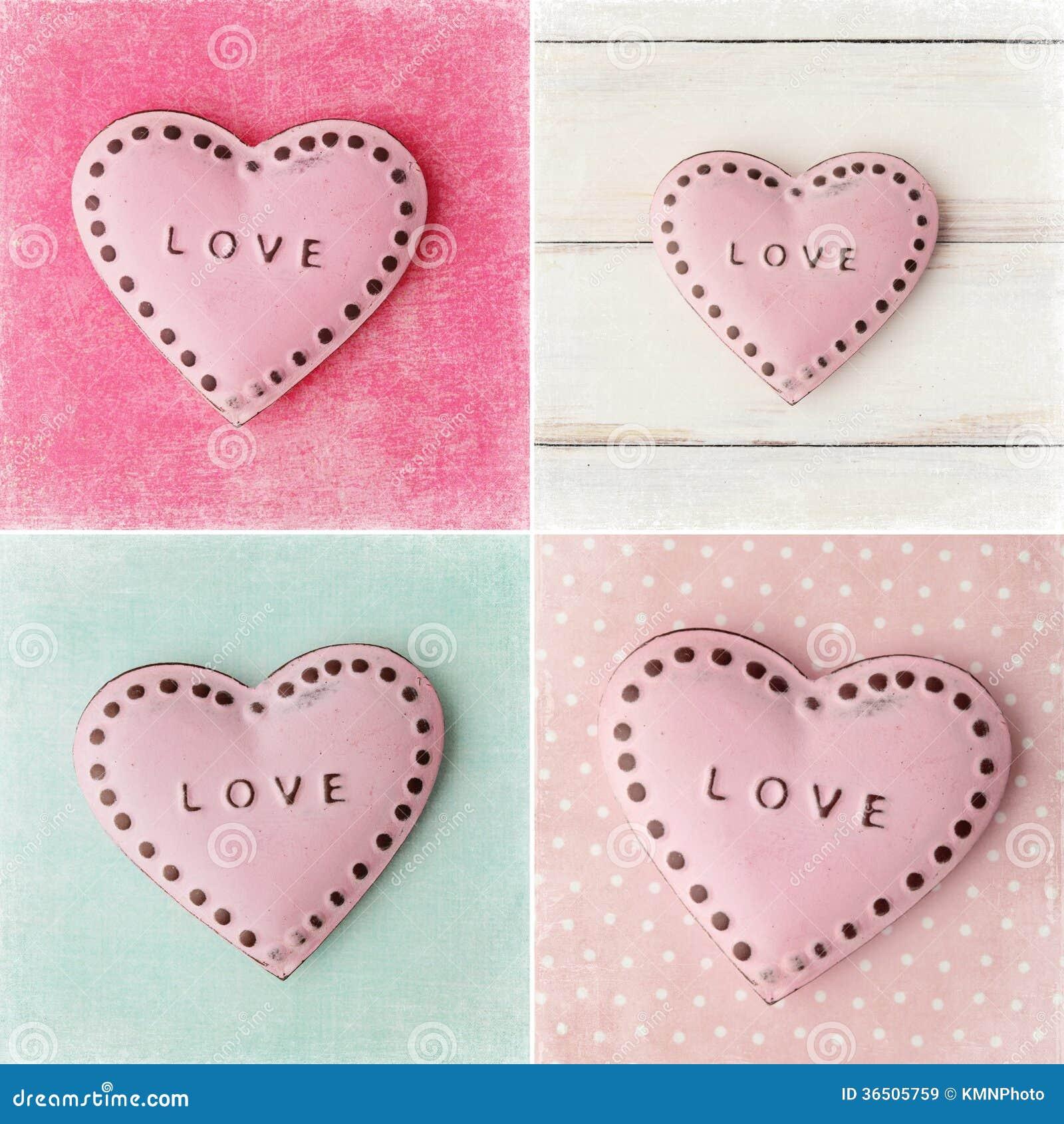 Collage de jour de valentines