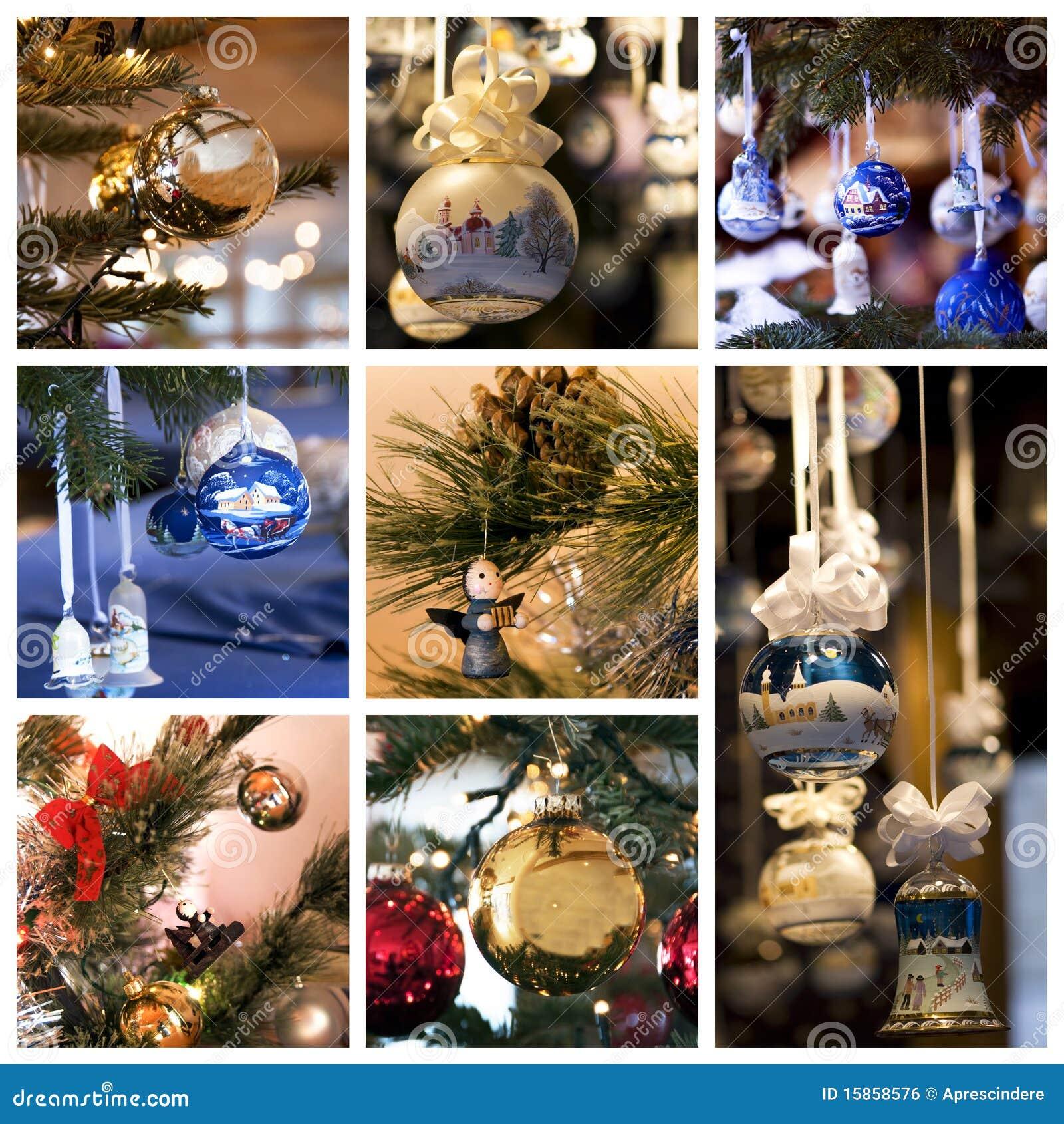 Collage de la decoración de la Navidad