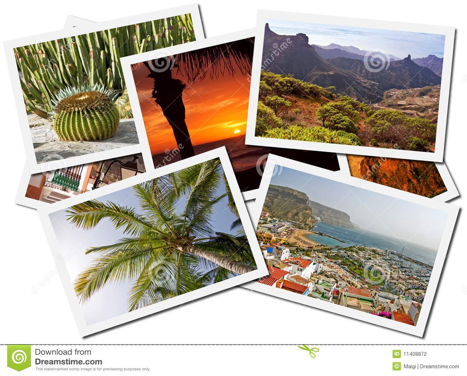 Collage de la foto de las islas Canarias