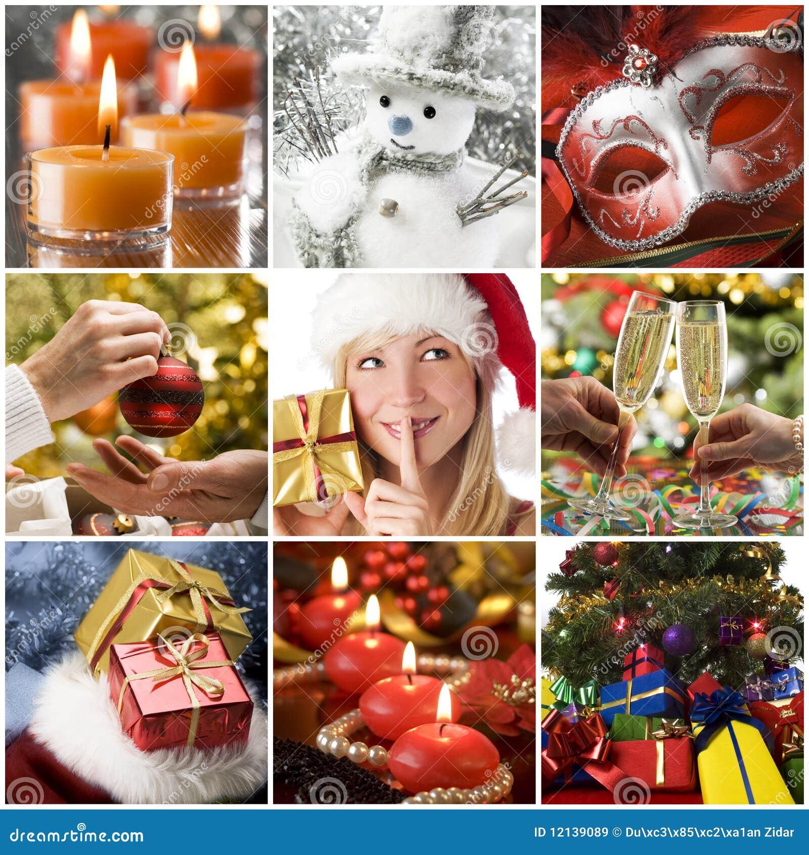 Collage de la Navidad