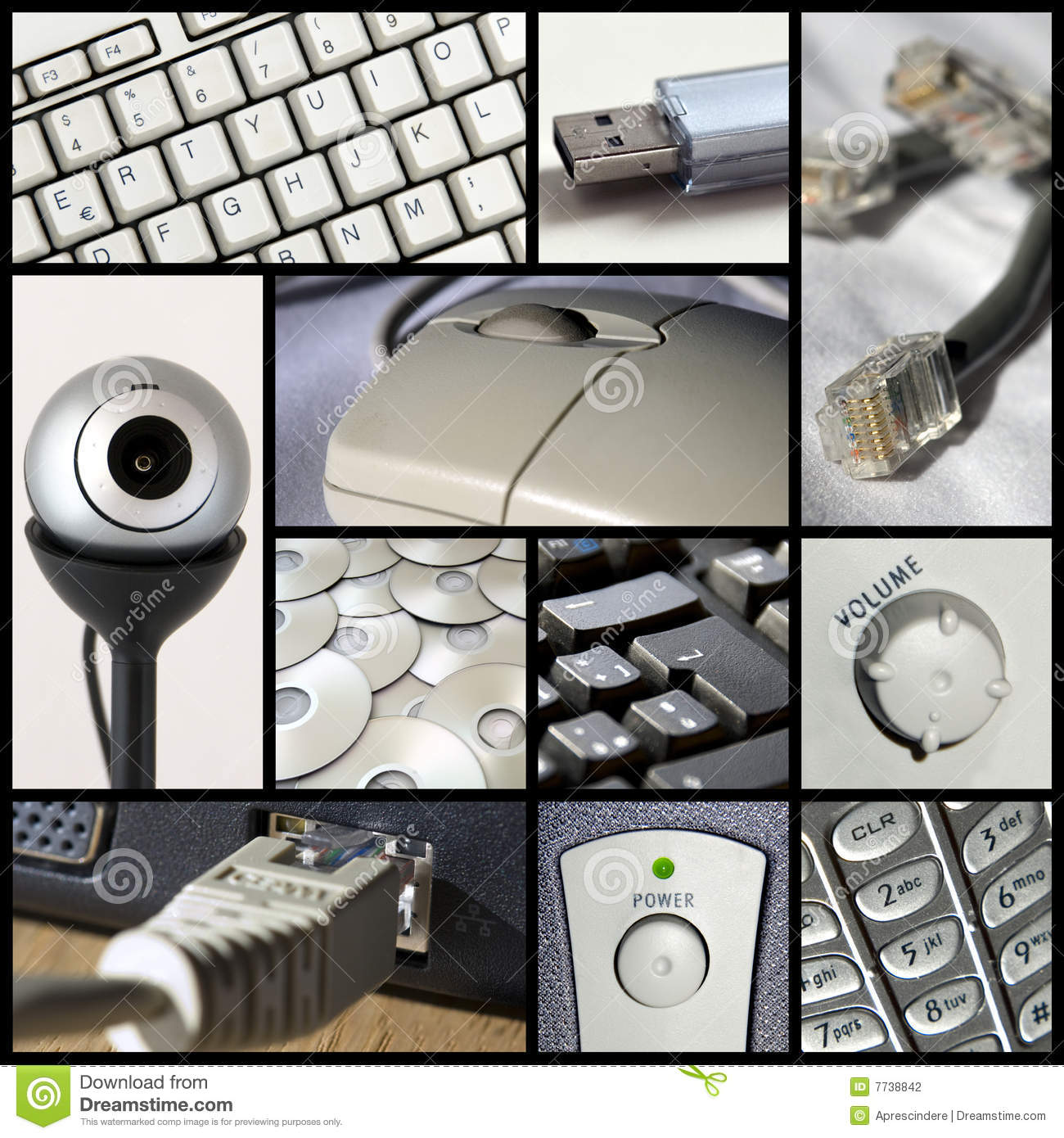 Collage de la tecnología