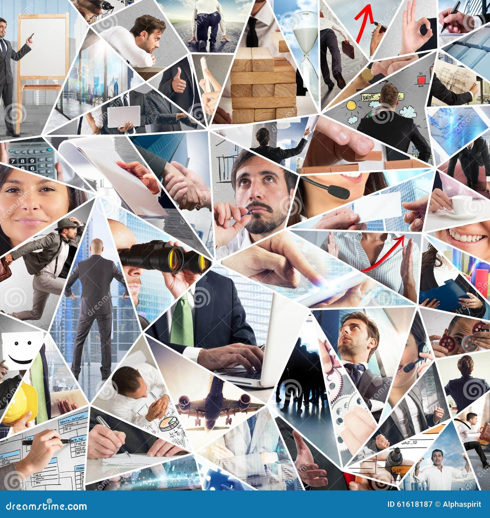 Collage de la vida empresarial