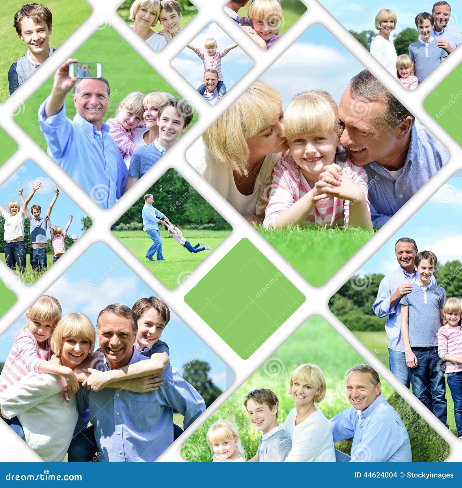 collage de las im genes felices de la familia foto de archivo imagen 44624004. Black Bedroom Furniture Sets. Home Design Ideas