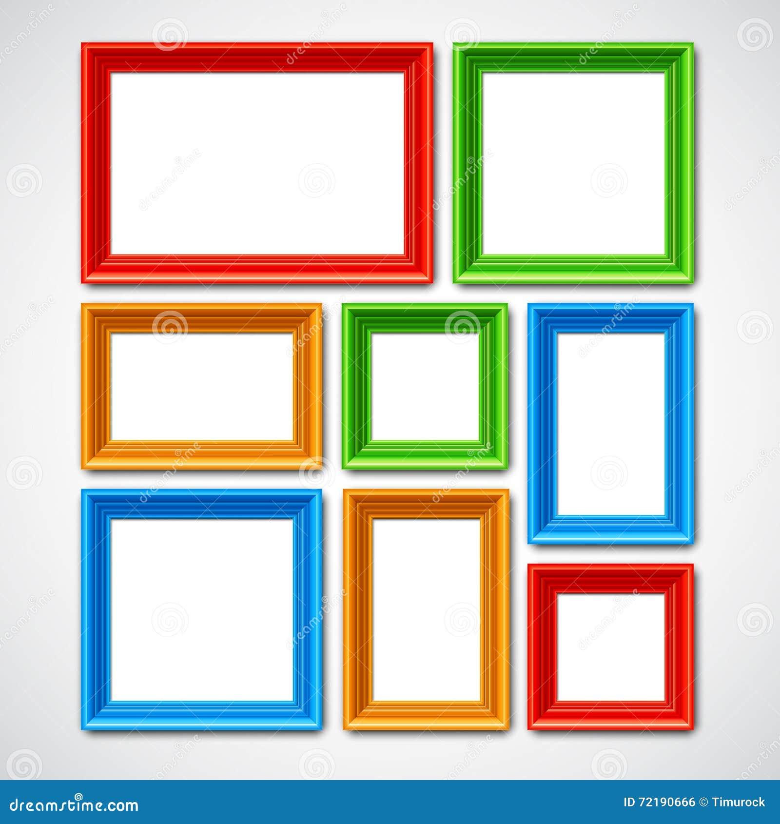 Collage de los marcos ilustración del vector. Ilustración de collage ...
