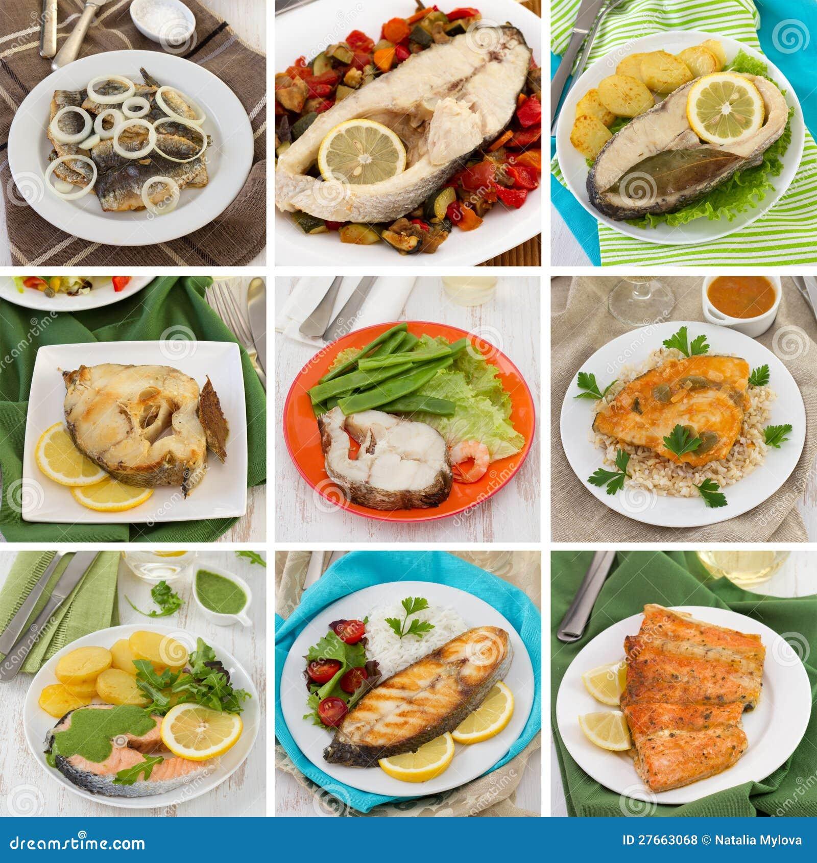 Collage de los pescados