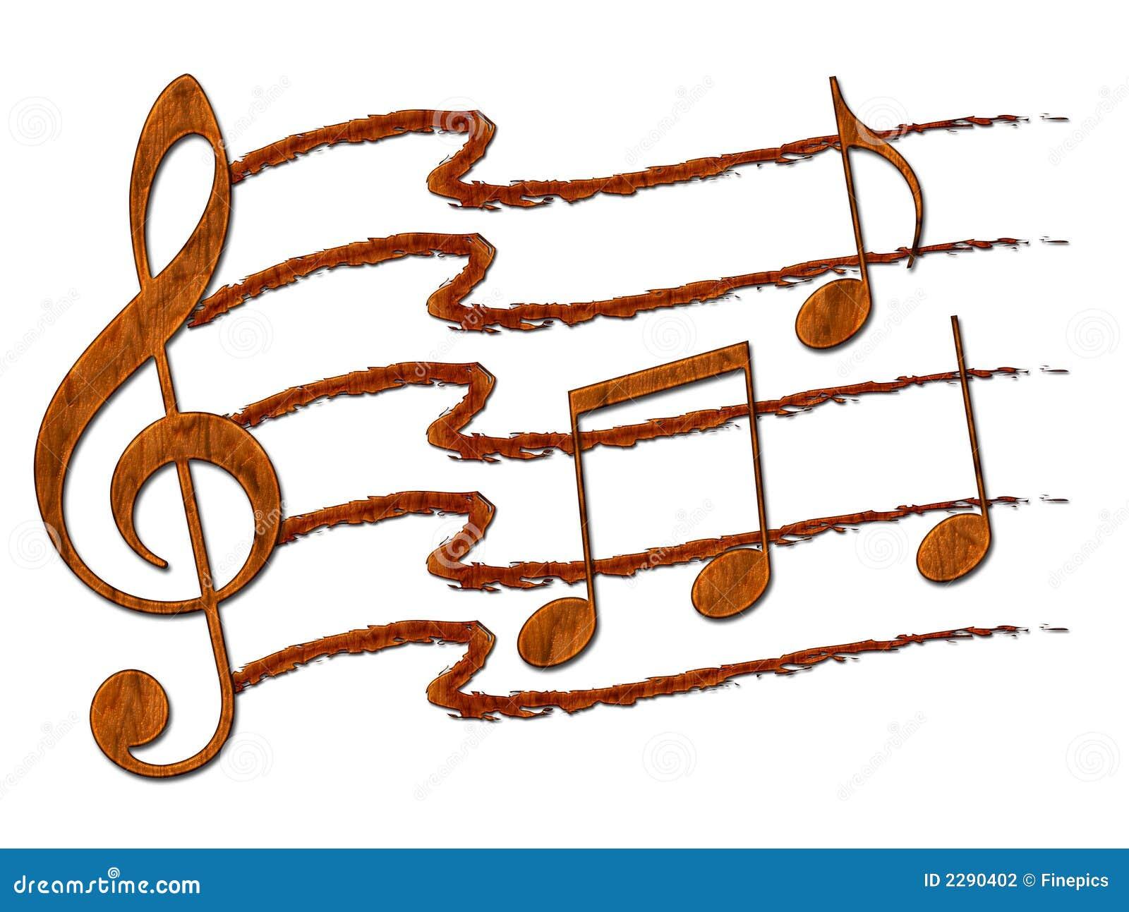 Collage de note de musique
