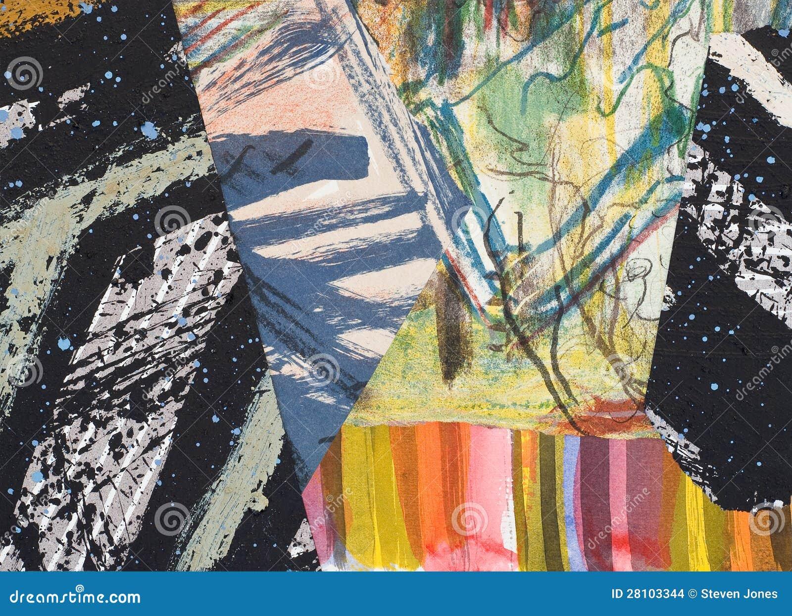 Collage de papel pintado a mano imagenes de archivo imagen 28103344 - Papel pintado a mano ...