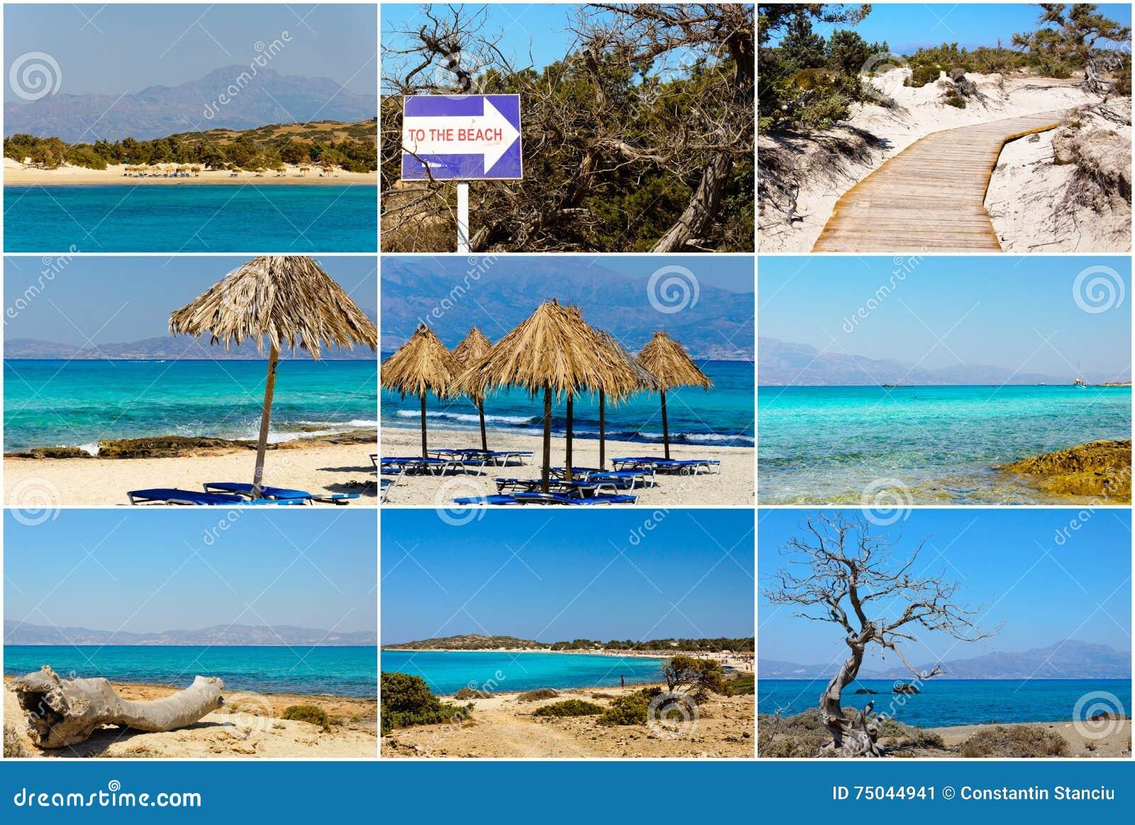 Ile De Chrissi Crete Carte.Collage De Photo Avec Des Images De Chrissi Island Pres De