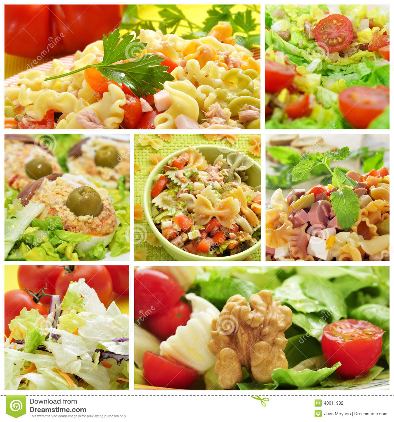 Collage de salade