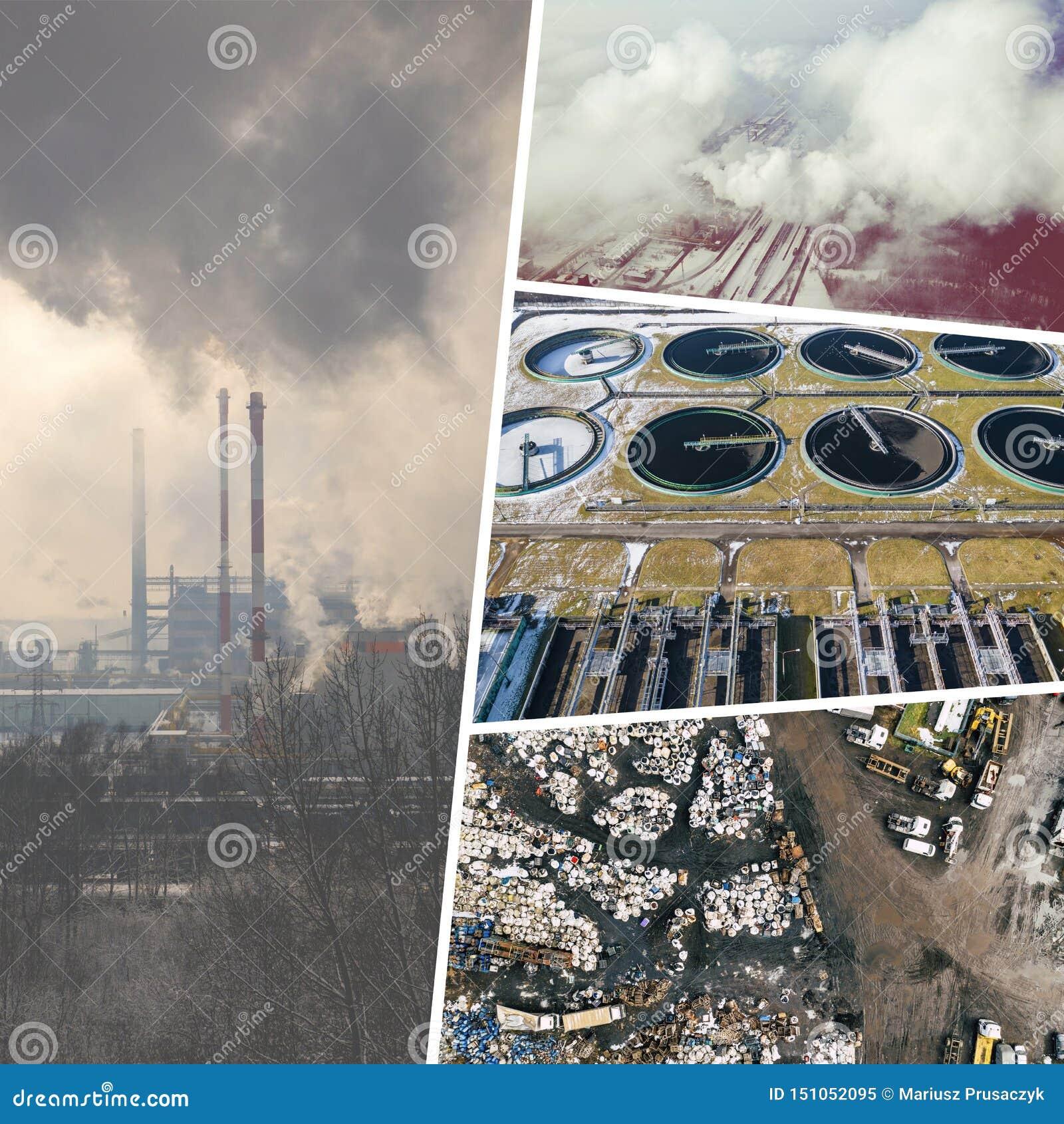 Collage de vief aérien de dégradation environnementale d en haut poires d isolement vertes conceptuelles de fond blanches Vue de