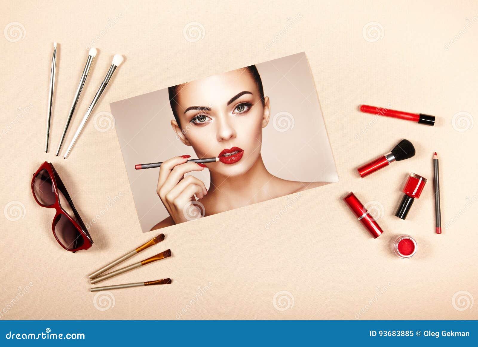 Collage degli accessori di signora di modo