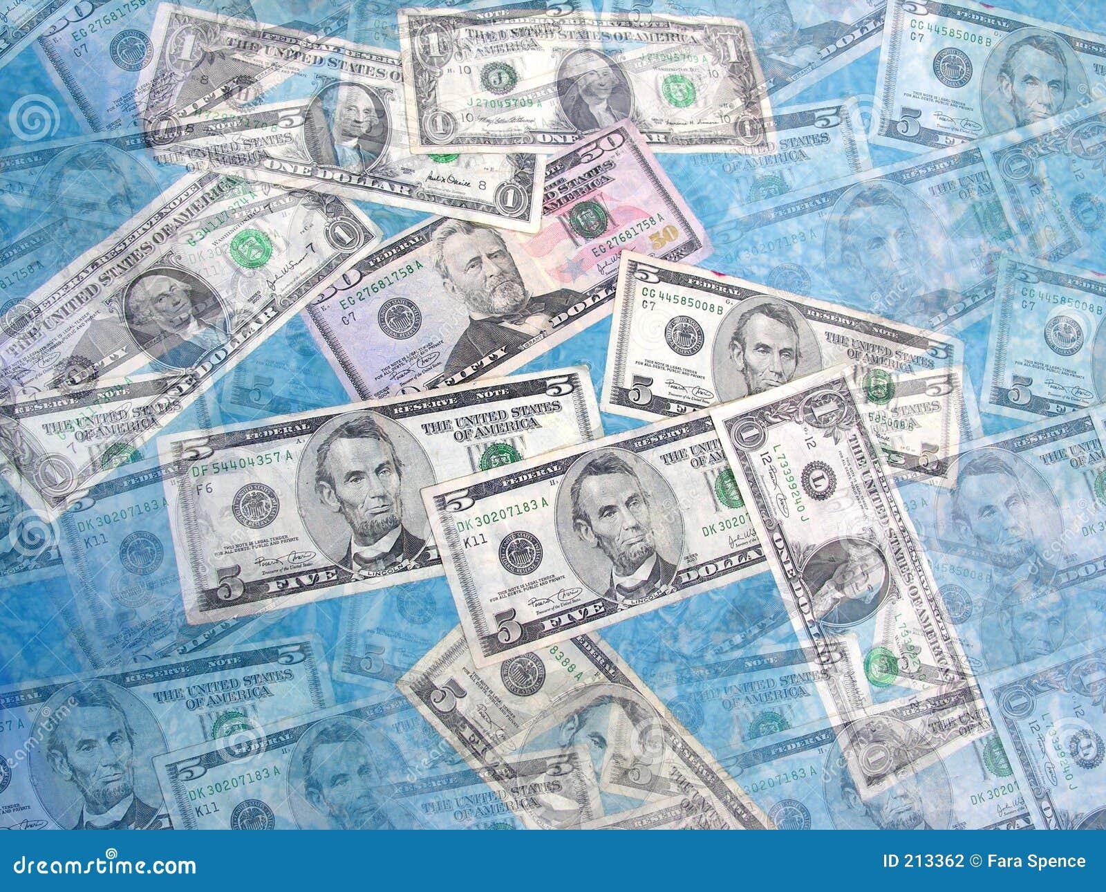 Collage dei soldi