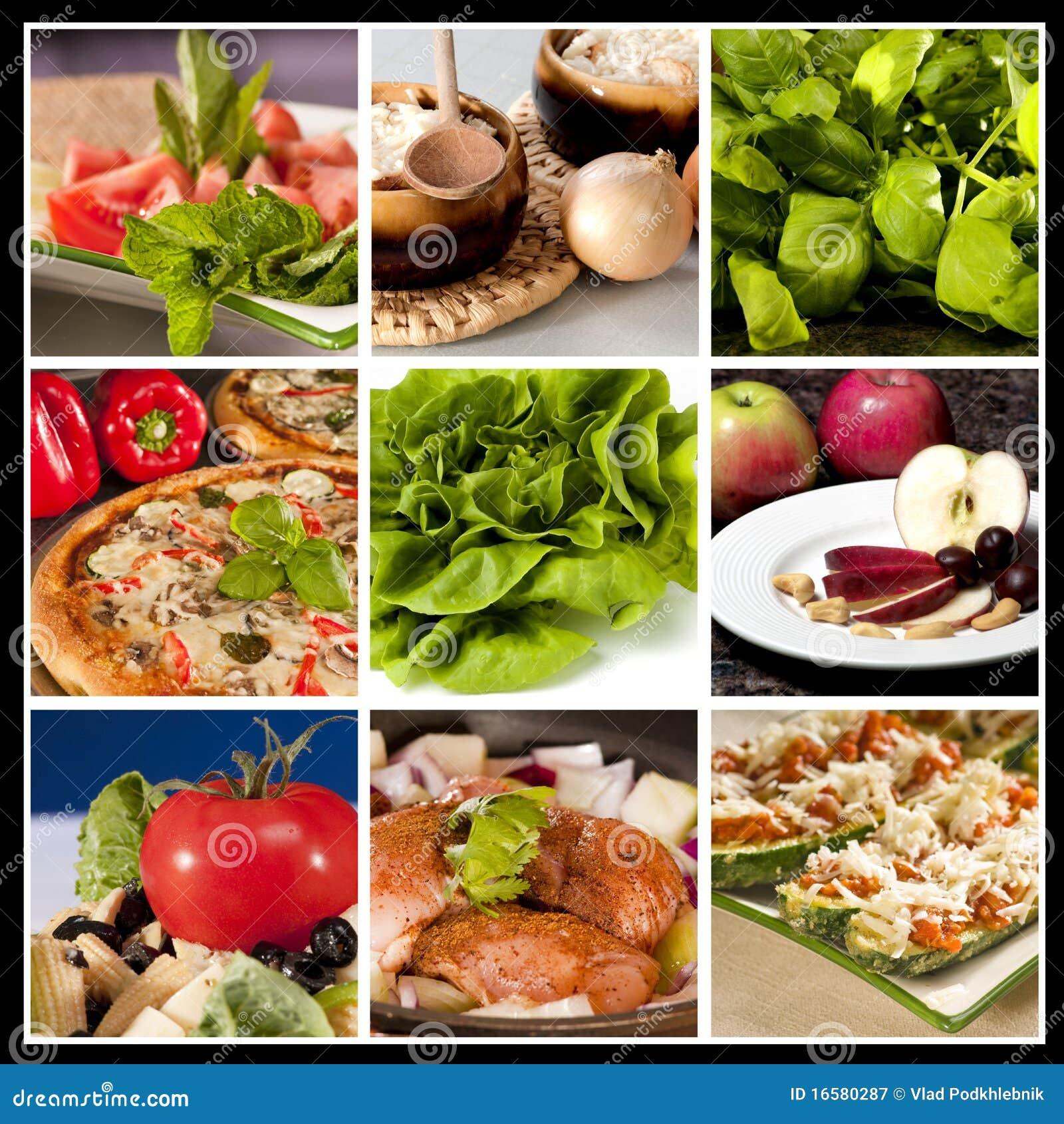 Collage del alimento