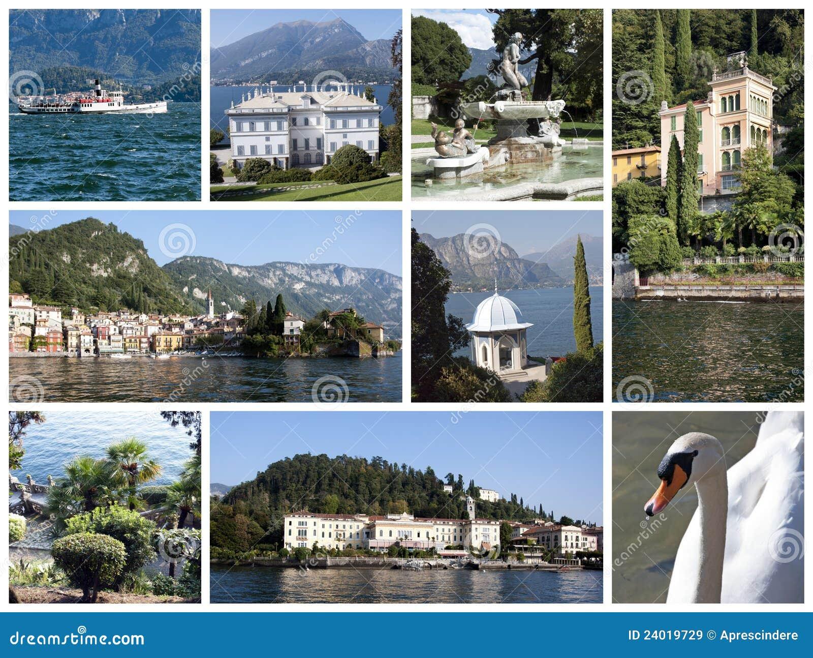 Collage del lago Como