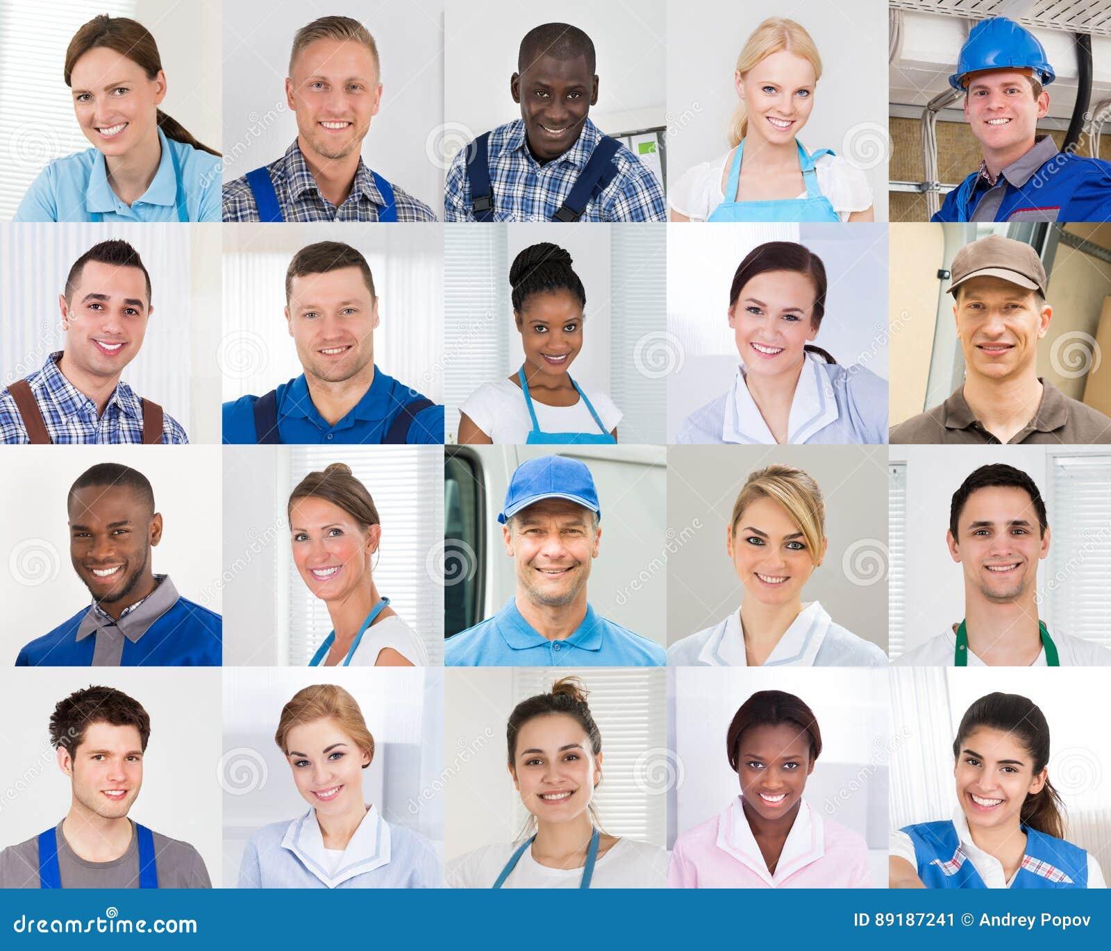 Collage del lavoratore