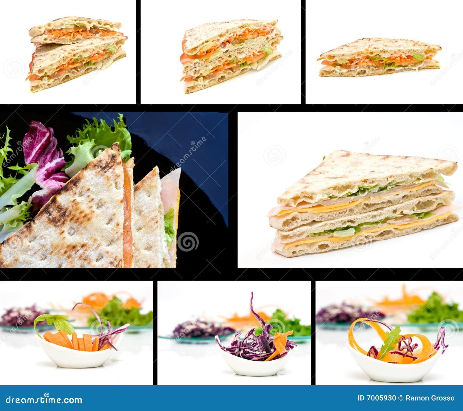 Collage dell alimento