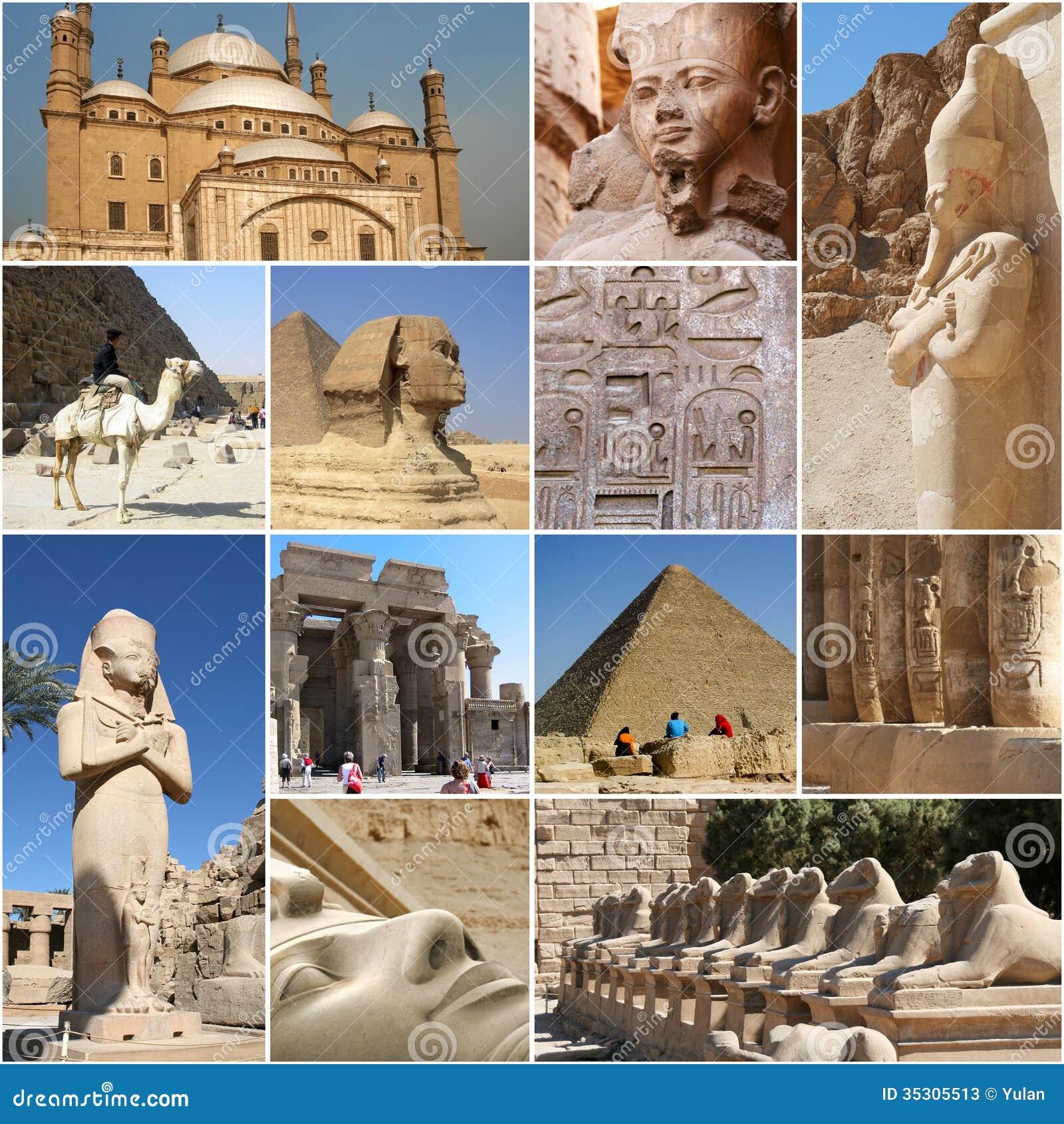 Collage dell Egitto