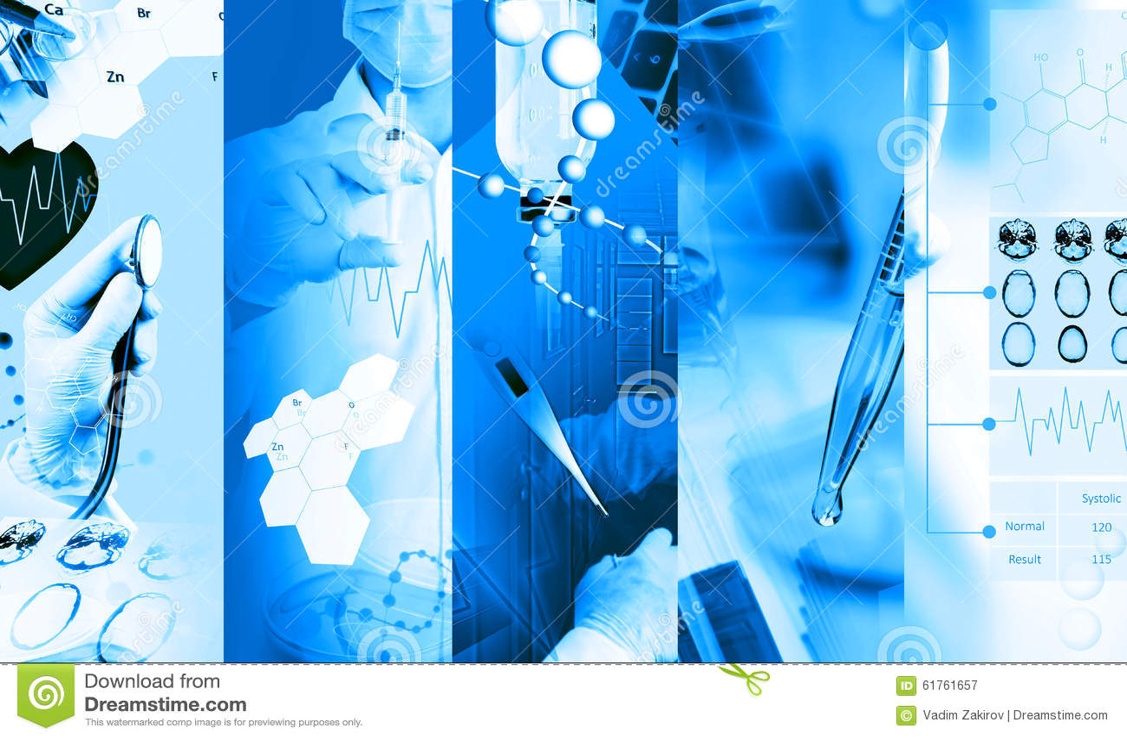 Collage della foto di servizi medici