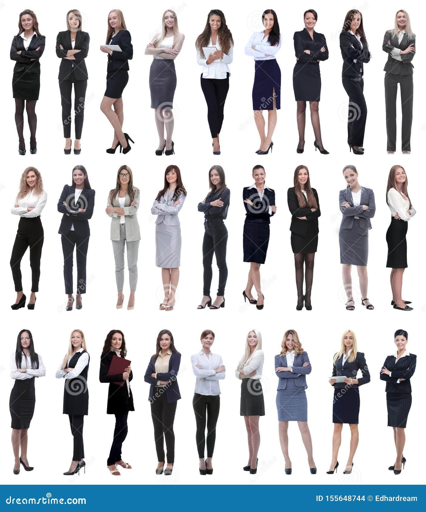Collage der erfolgreichen modernen Gesch?ftsfrau Lokalisiert auf Wei?