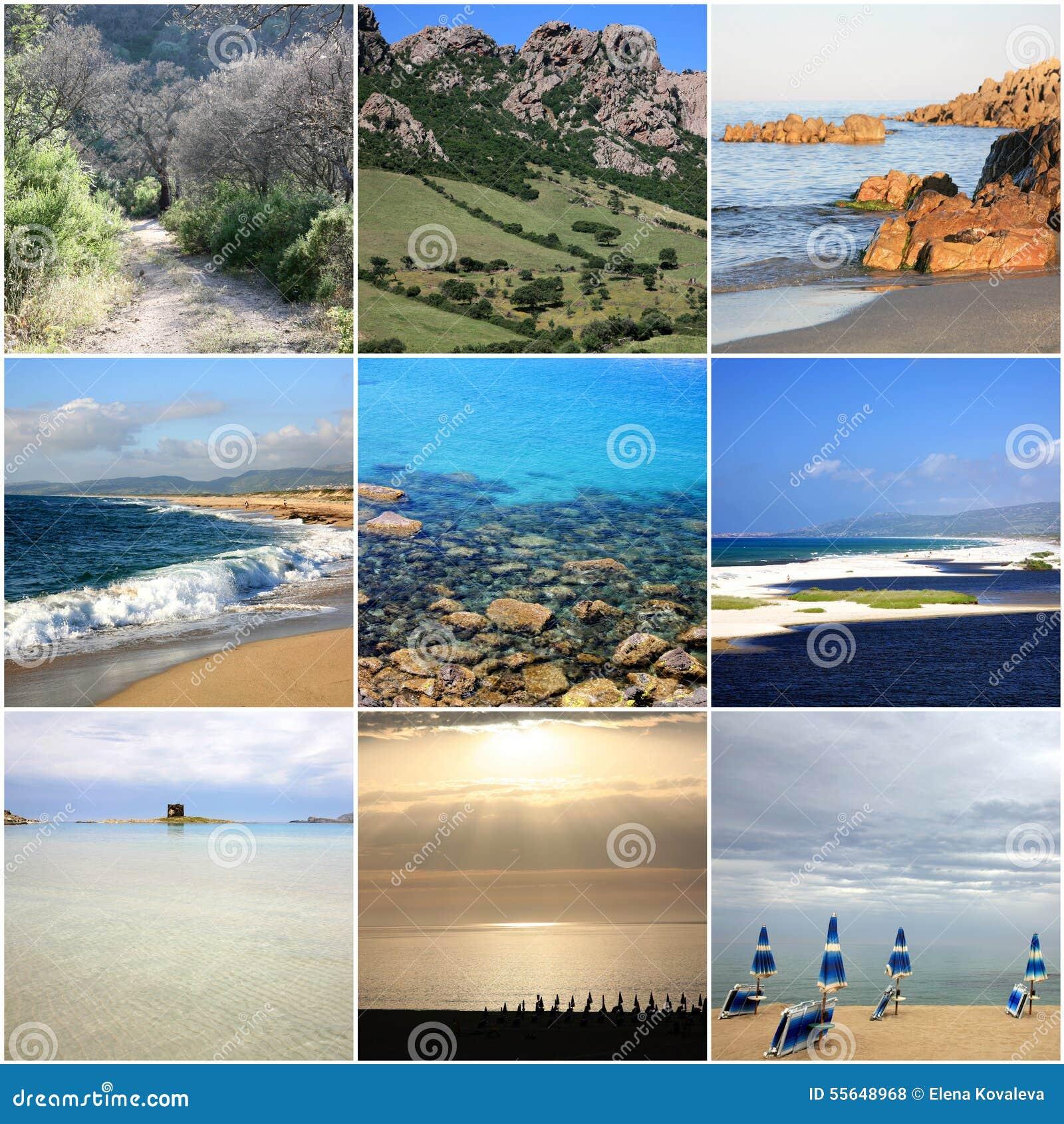 Collage di bella Sardegna Italia