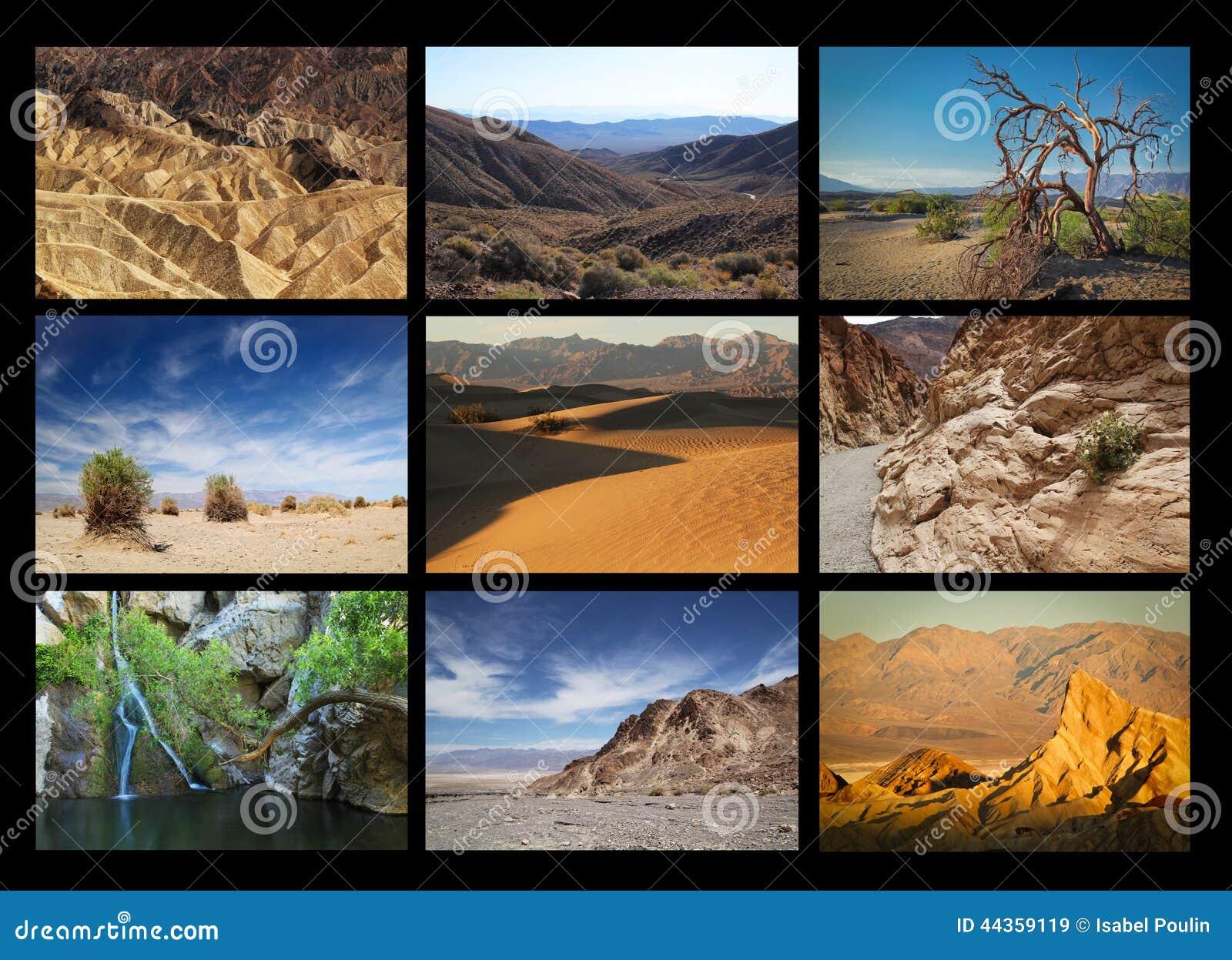 Collage di Death Valley