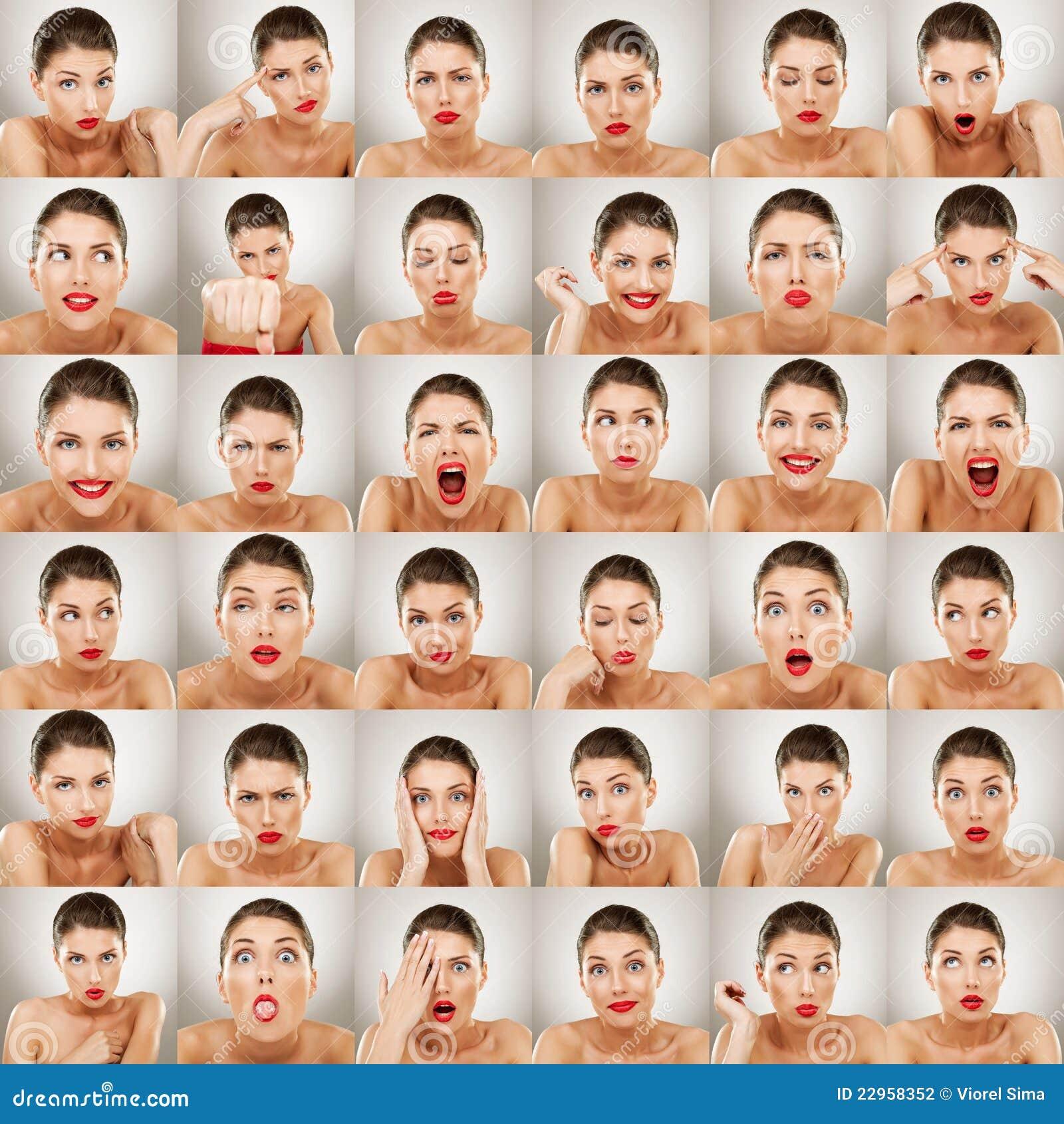 Collage di espressioni