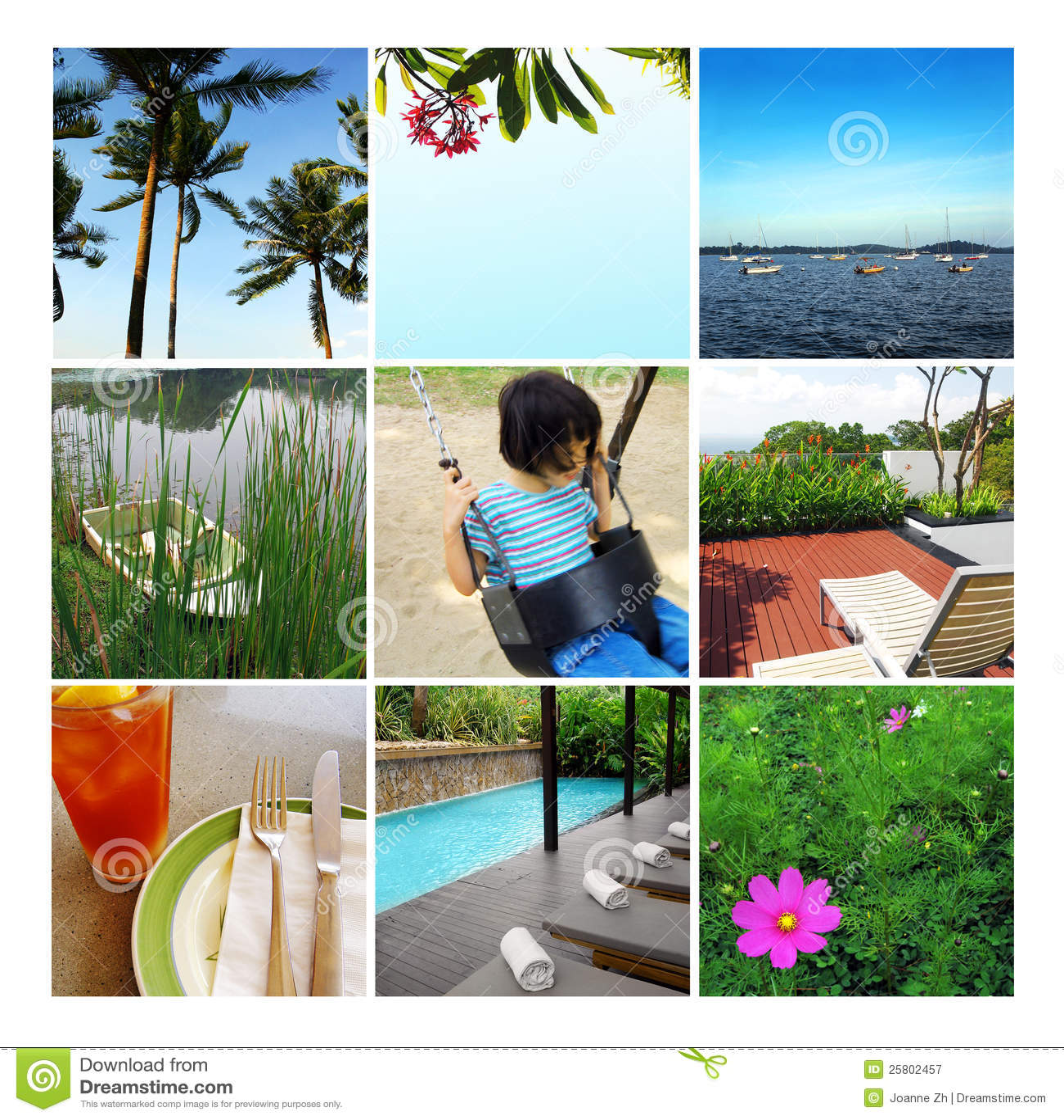 Collage di vacanza di estate