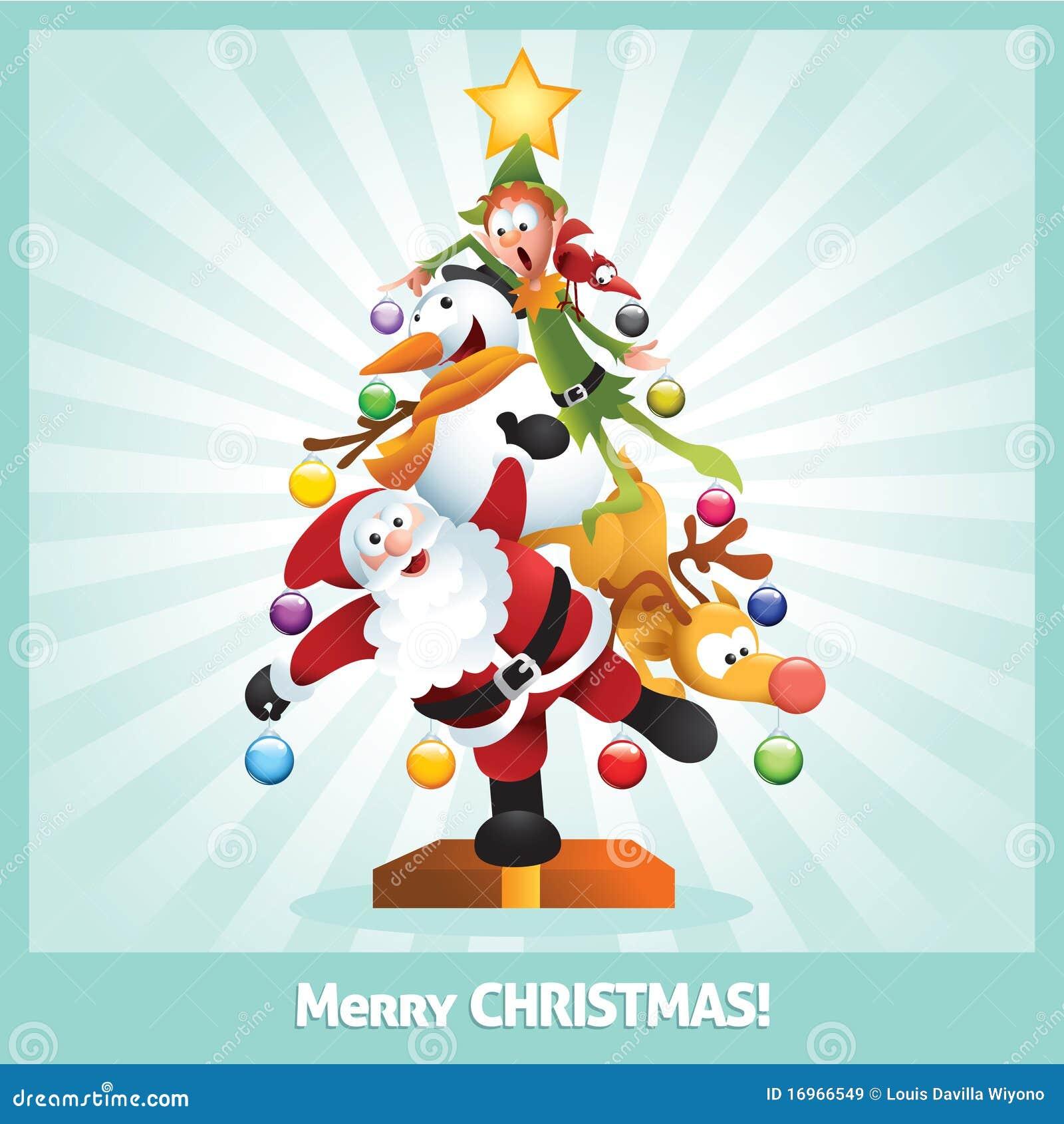 Immagini Del Natale Divertenti.Collage Divertente Del Fumetto Della Cartolina Di Natale