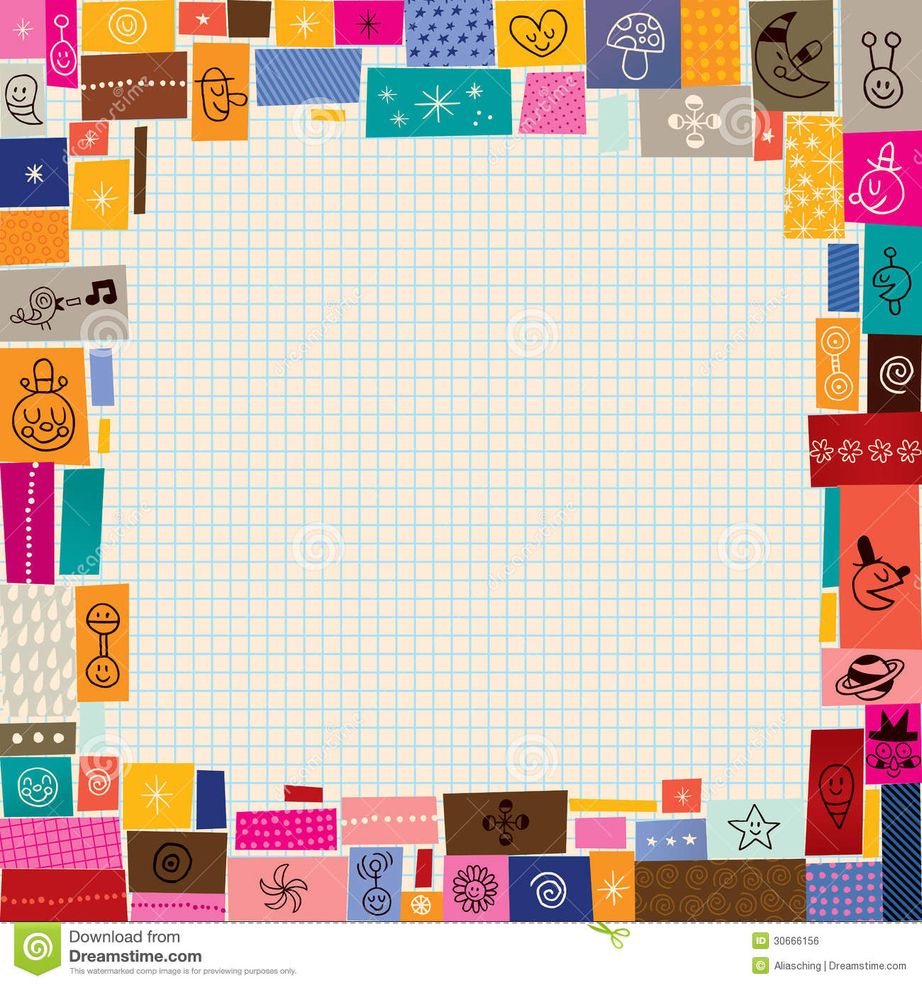 Collage doodle border stock vector image of border for Design a space online