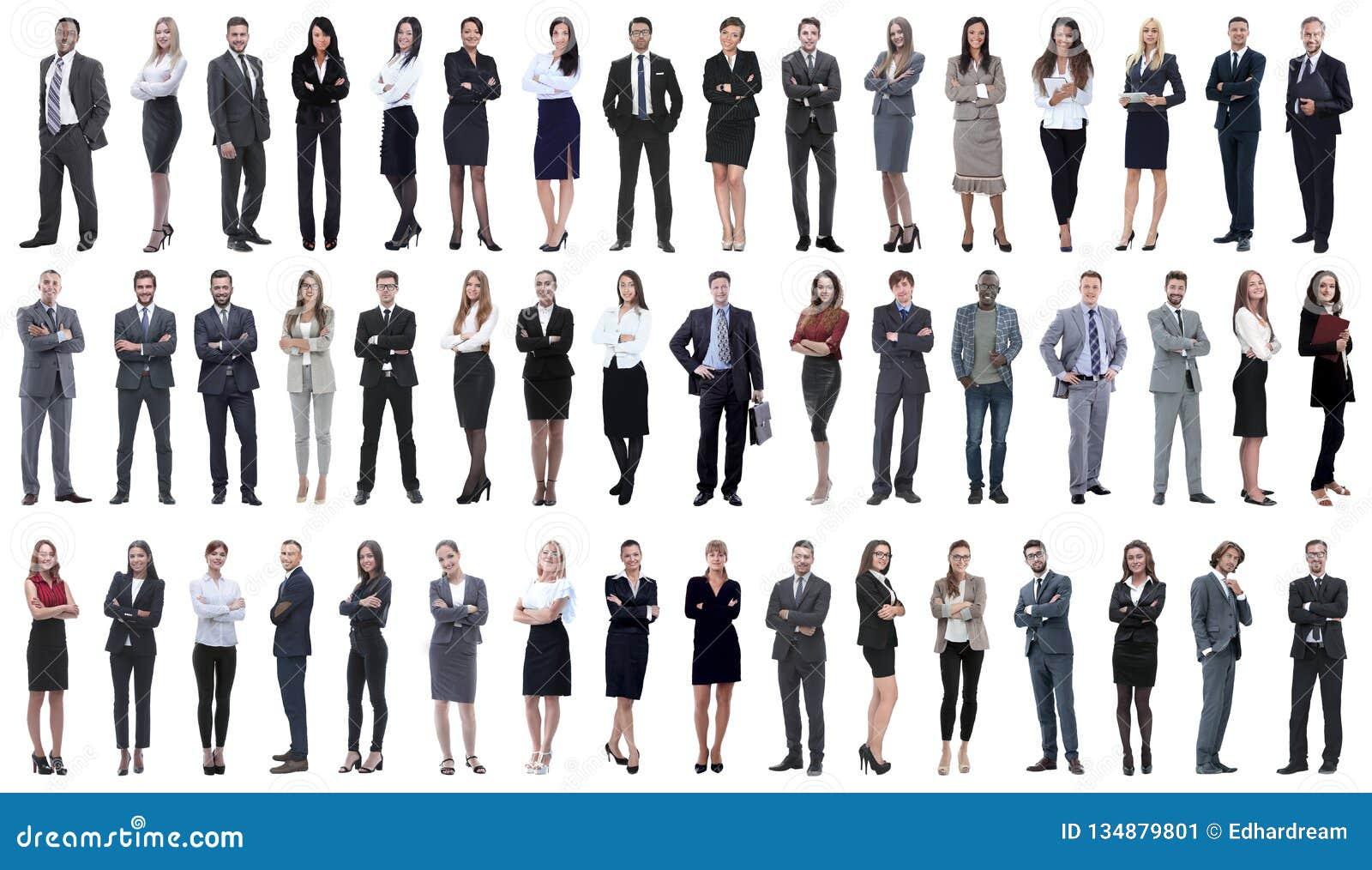 Collage einer Vielzahl der Geschäftsleute, die in Folge stehen