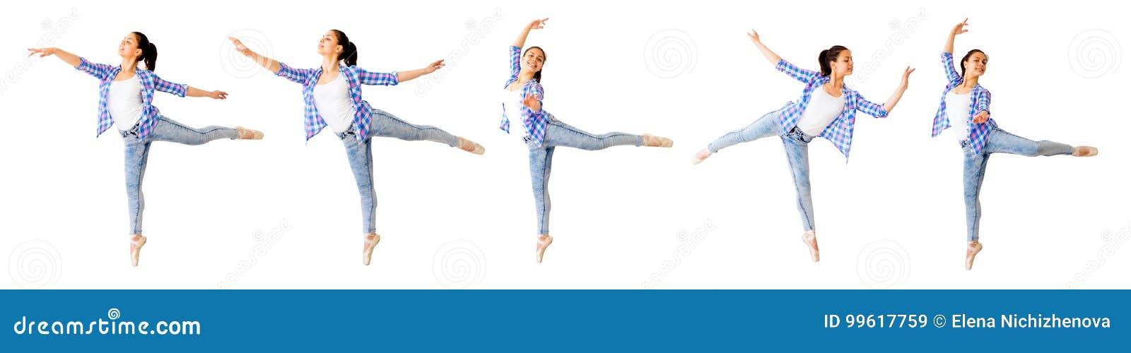 Collage för dansflicka