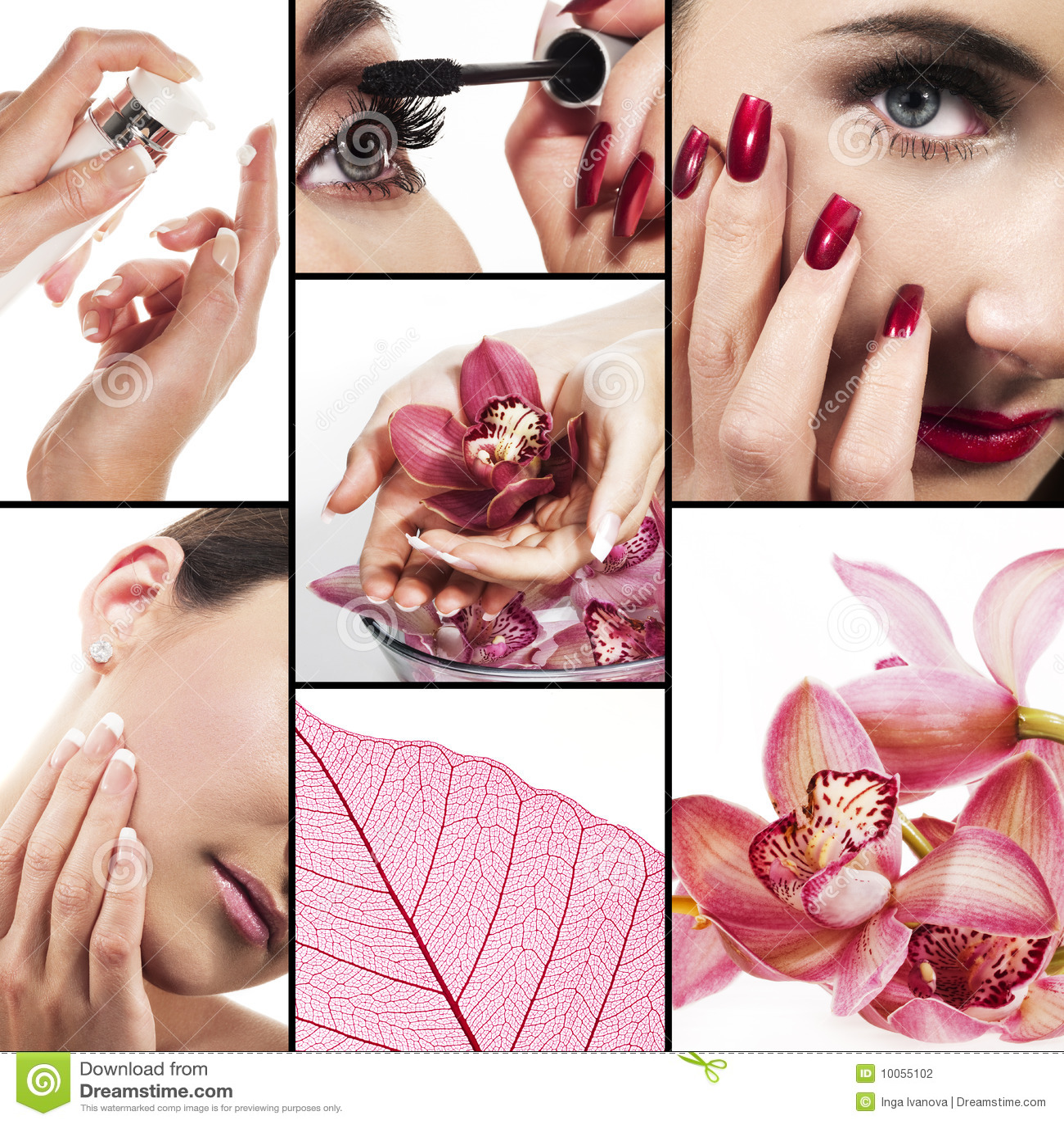 Collage für Gesundheitspflege- und Schönheitsindustrie