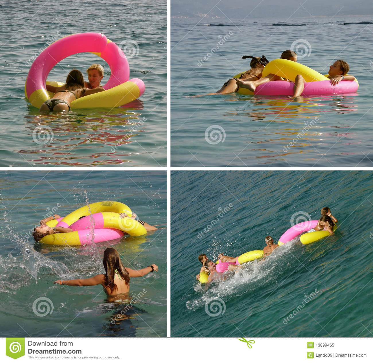 Family On Sea In Summer Vacation Stock Image