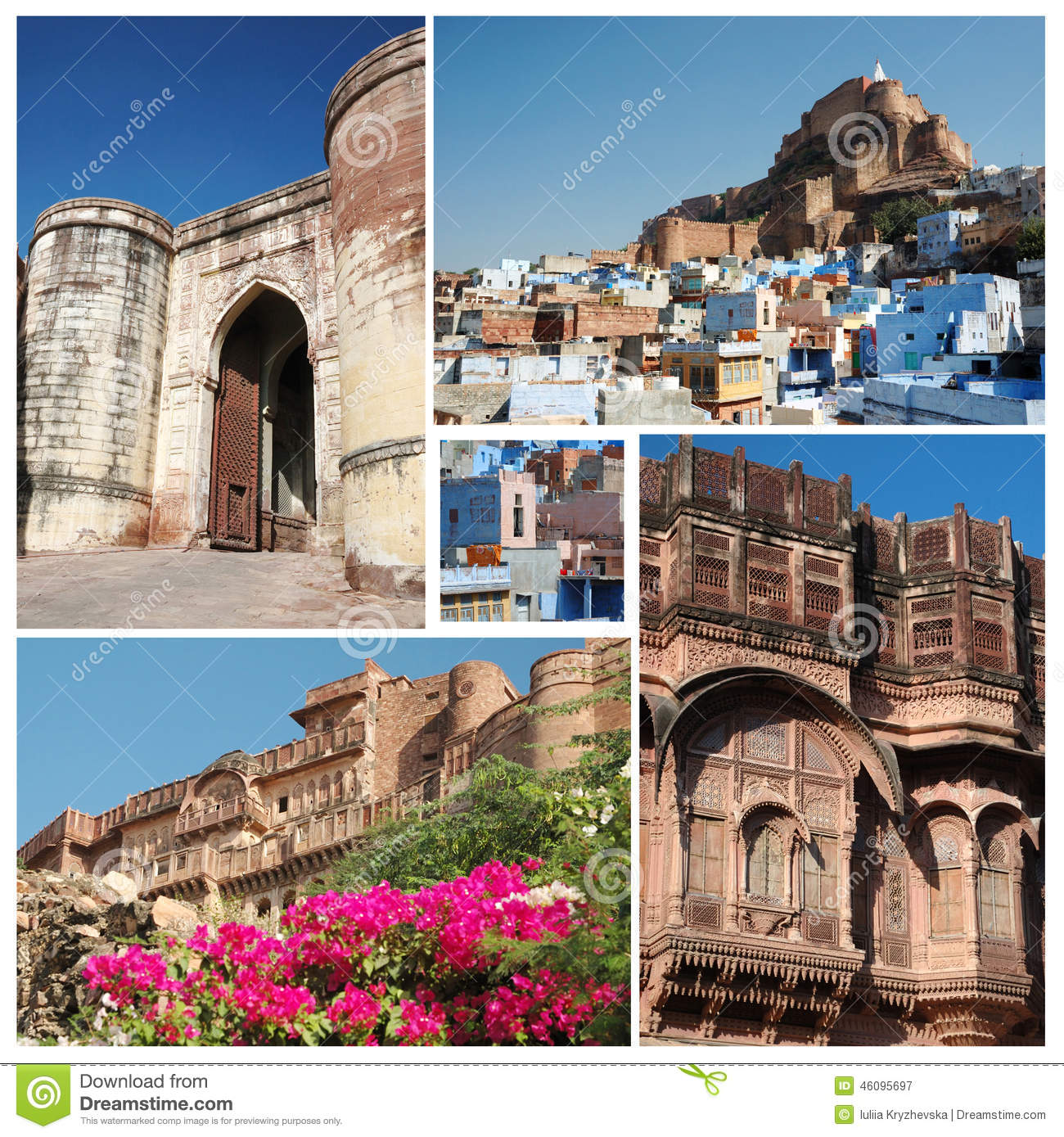 Collage Of Famous Indian Blue City