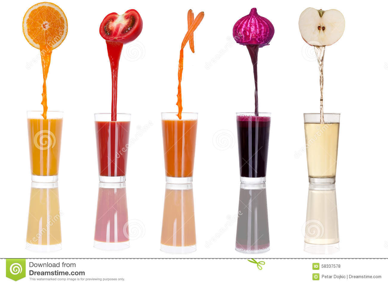 Glass juice cups design - Glass Isolated Juice