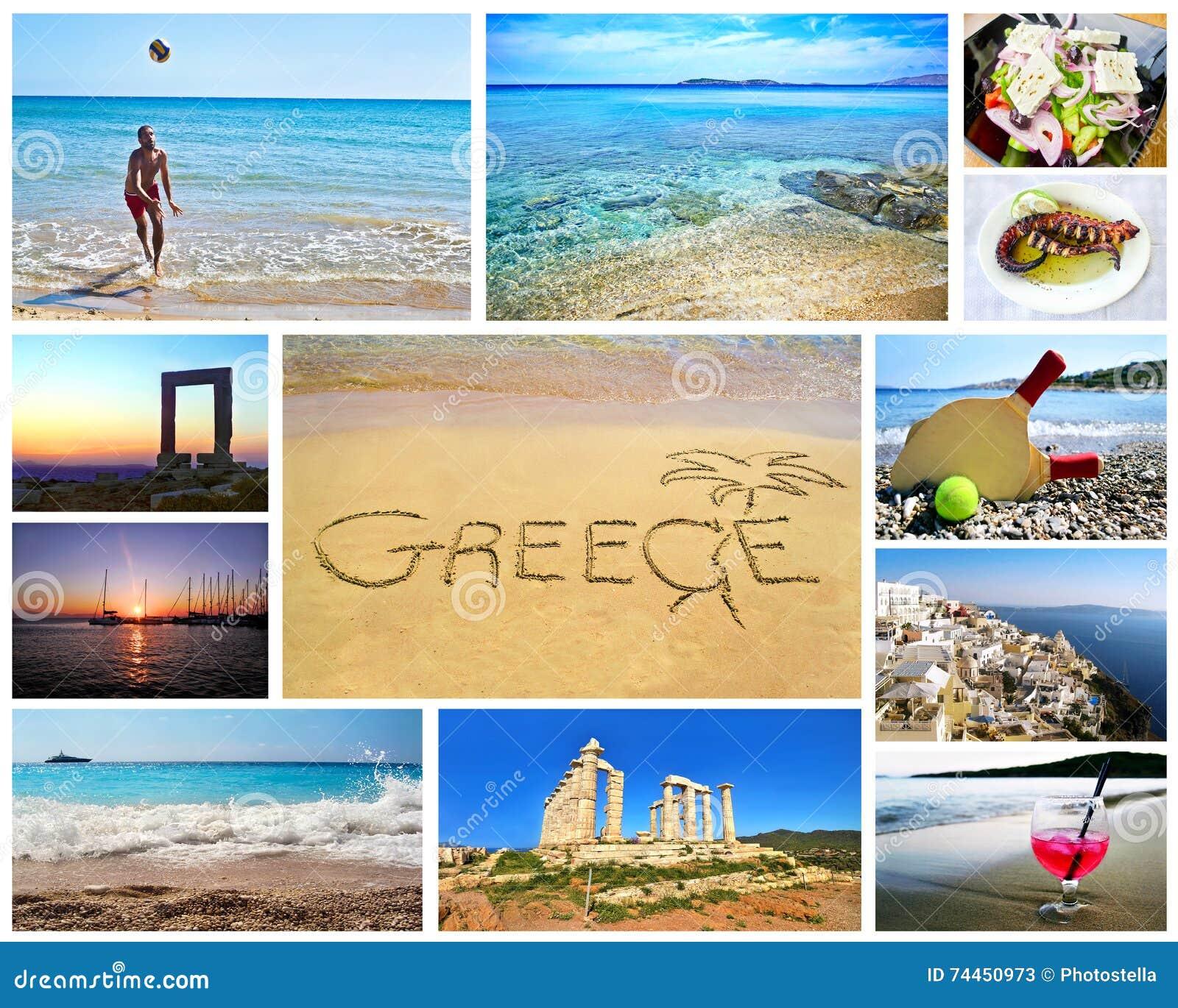Collage of greek summer photos