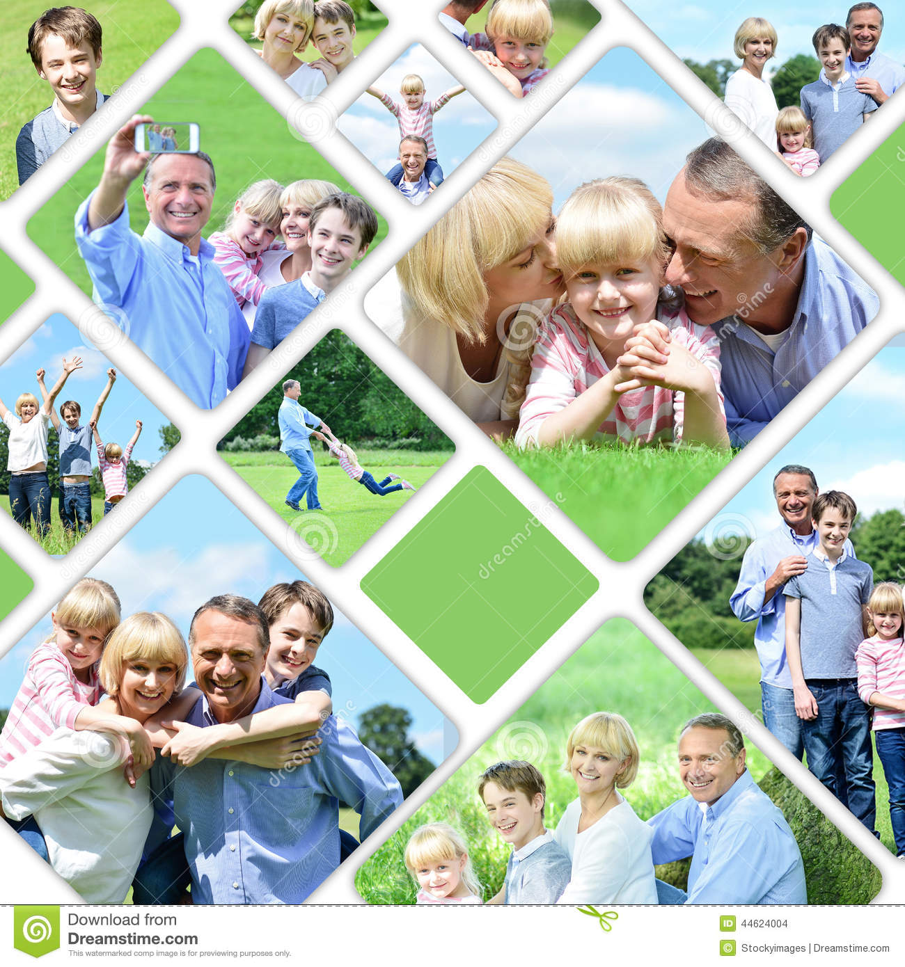 Collage Of Happy Family Pictures Stock Photo - Image: 44624004
