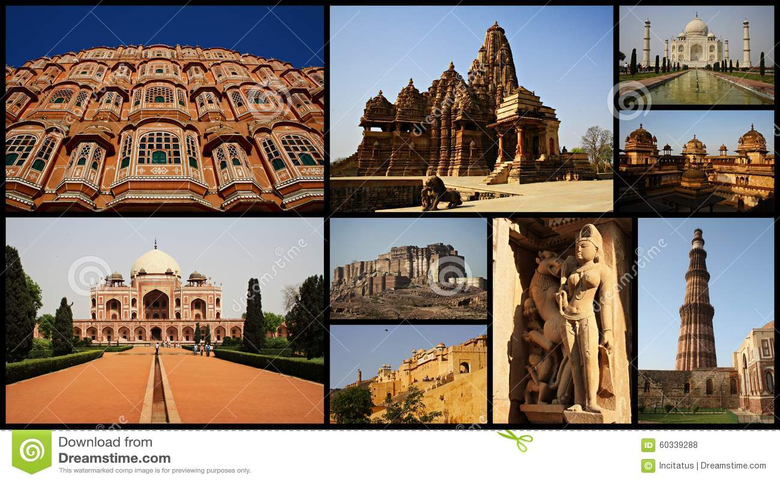 Collage Of India Stock Photo Image Delhi Residence