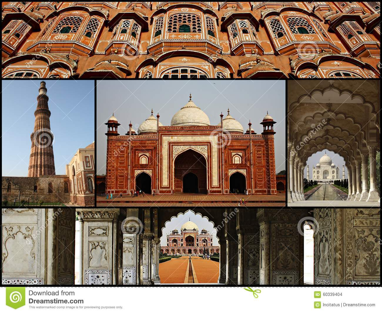 Collage Of India Stock Photo Image Places Agra Mausoleum