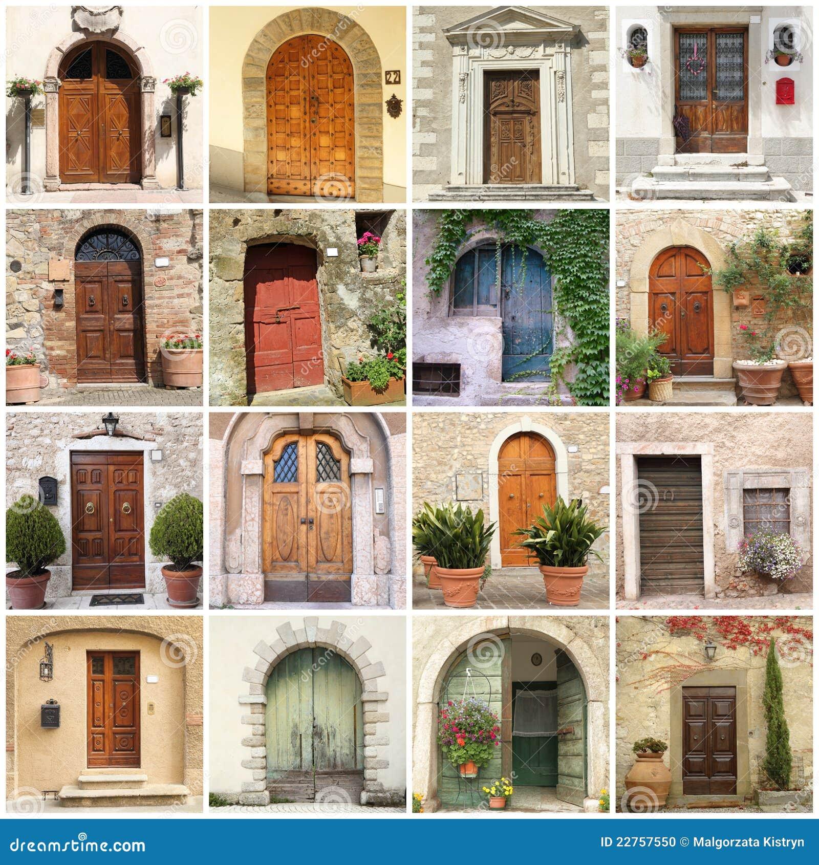 Collage with italian doors Stock Photo & Italian Doors Stock Images - Download 2254 Photos Pezcame.Com