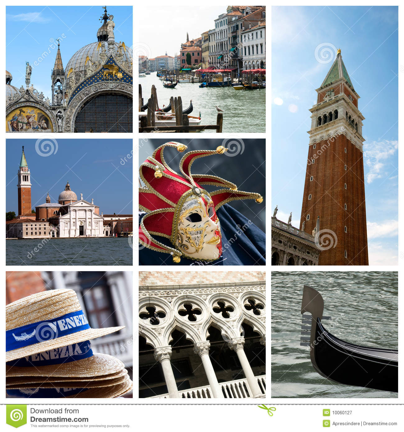Collage italy venice