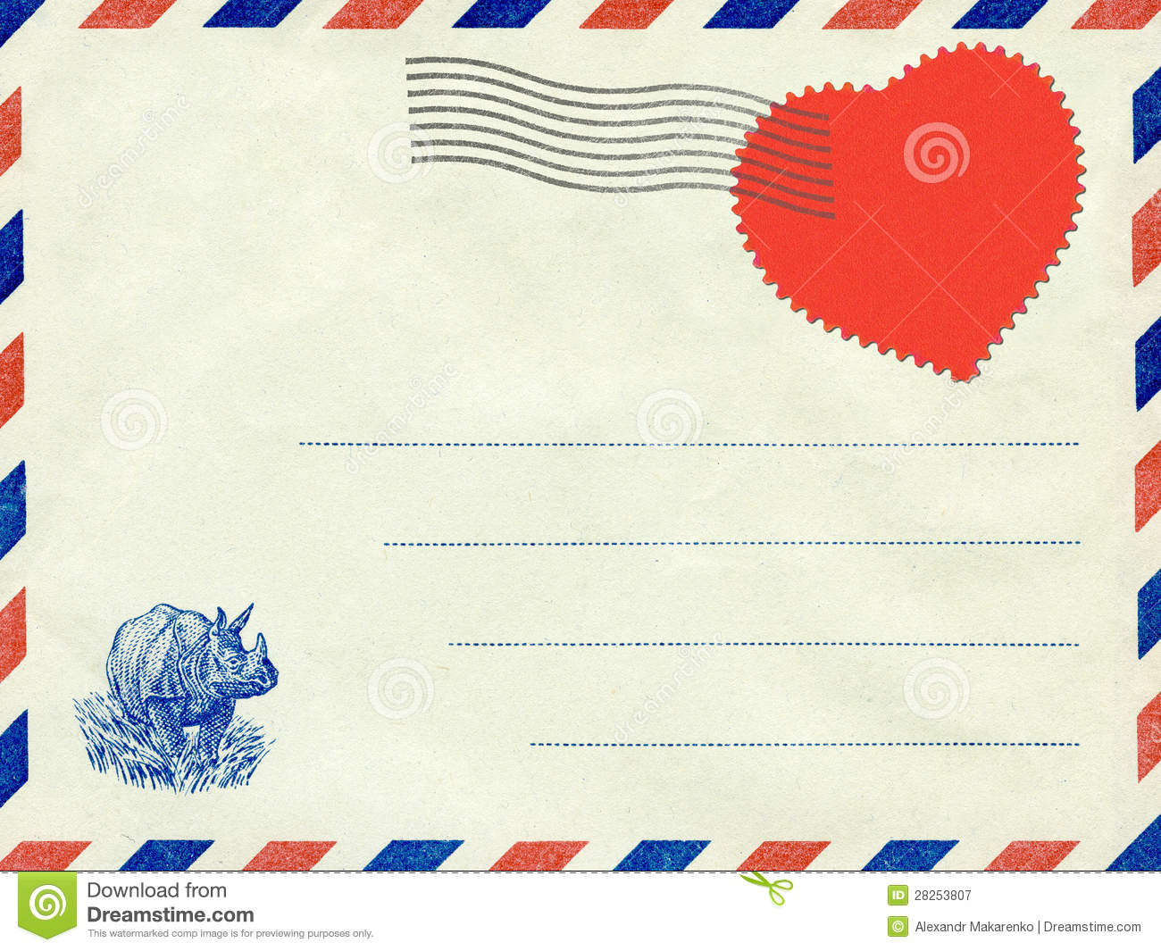 Royalty Free Stock Photography: Collage, a love letter. Vintage ...