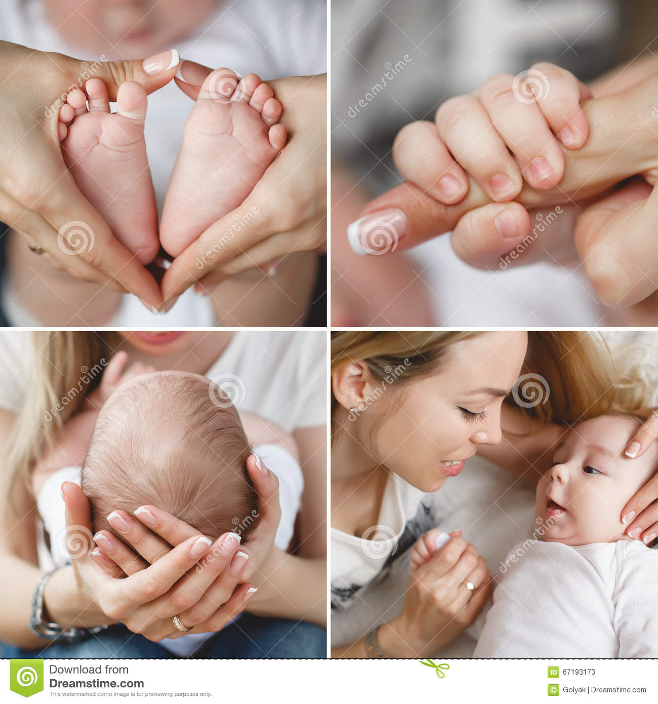 Newborn Baby Collage Stock Photos, Images, & Pictures - 461 Images