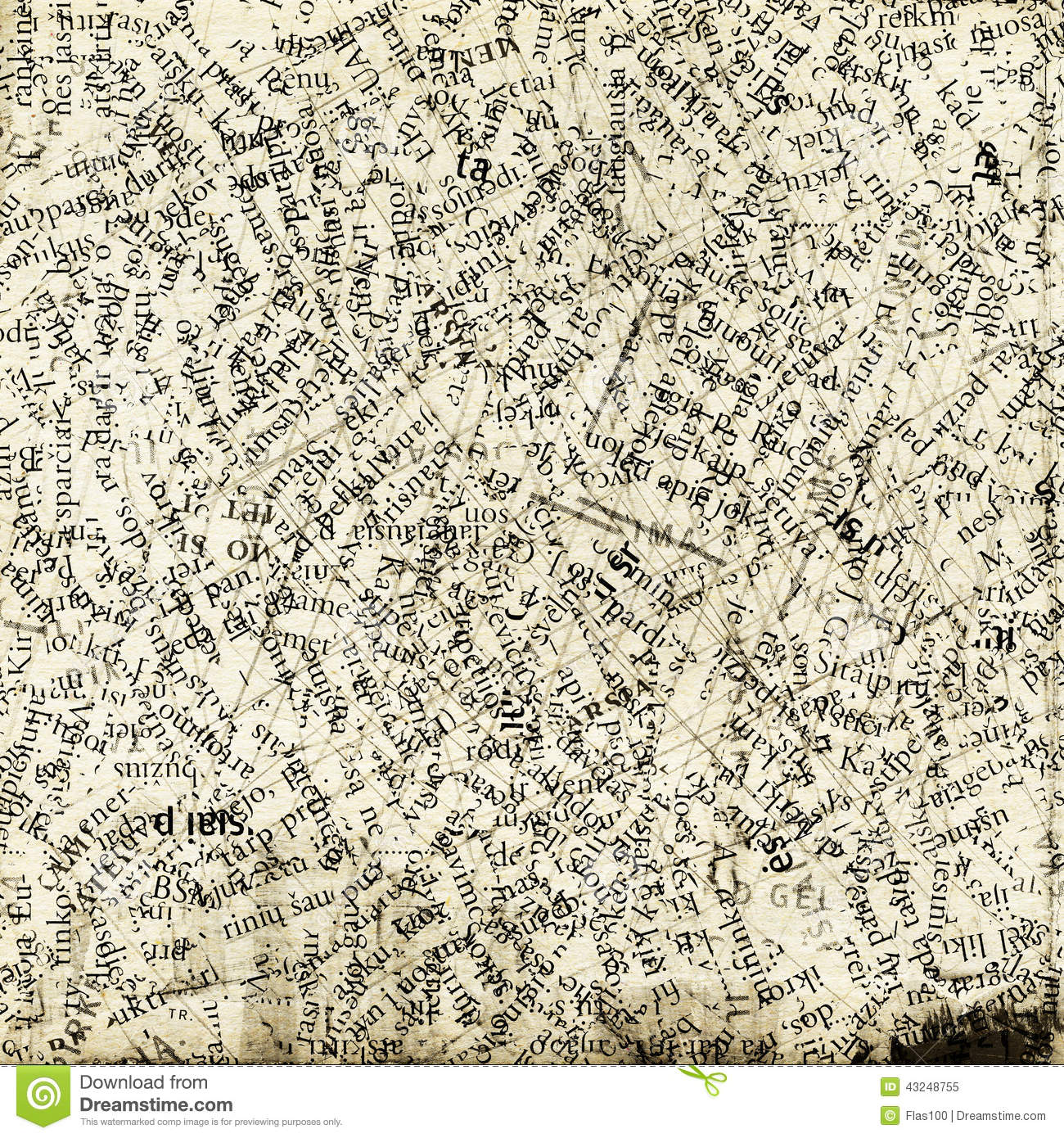 collage made of newspaper and magazine letters. stock image - image
