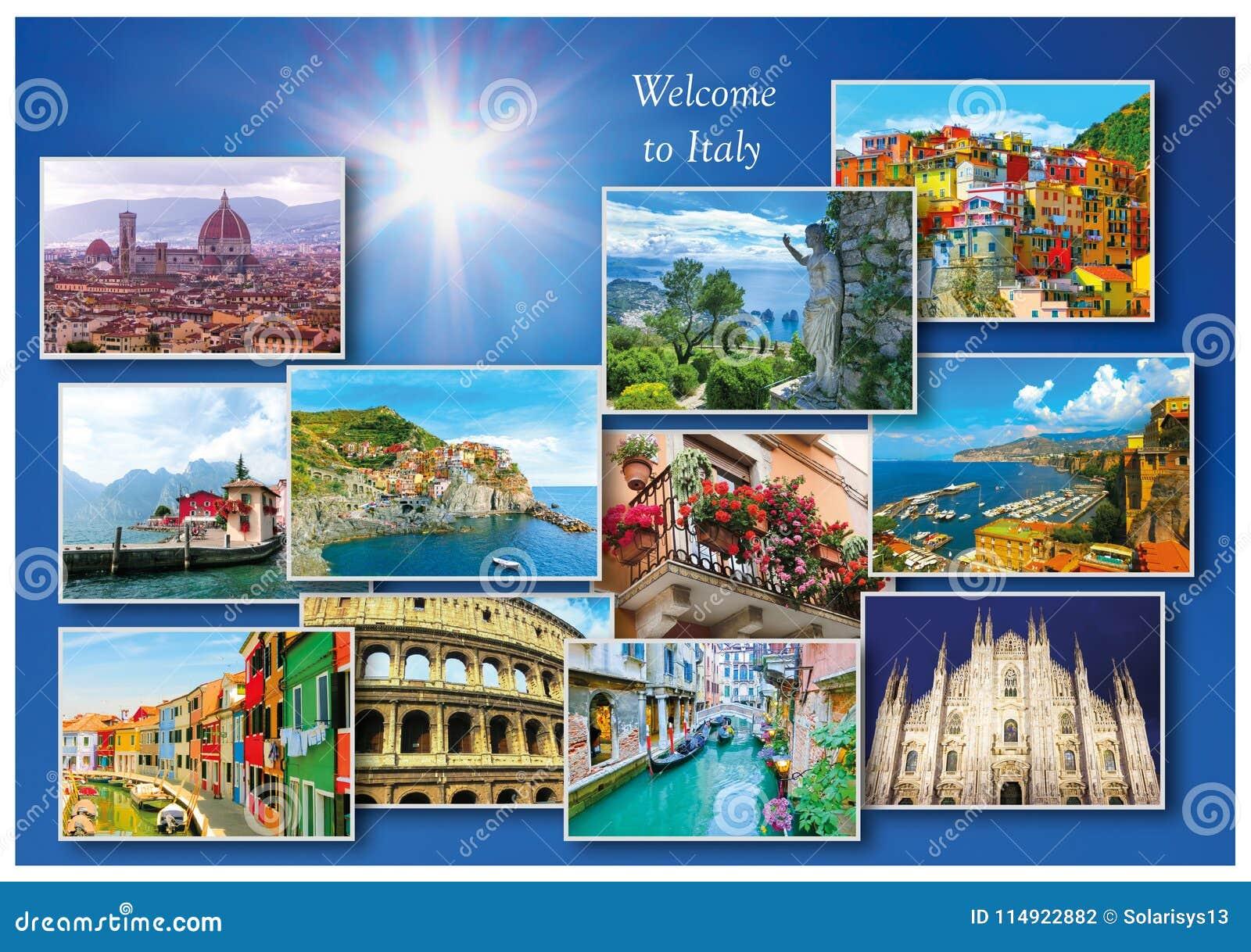 Download Collage Of Major Italian Travel Destinations Stock Photo