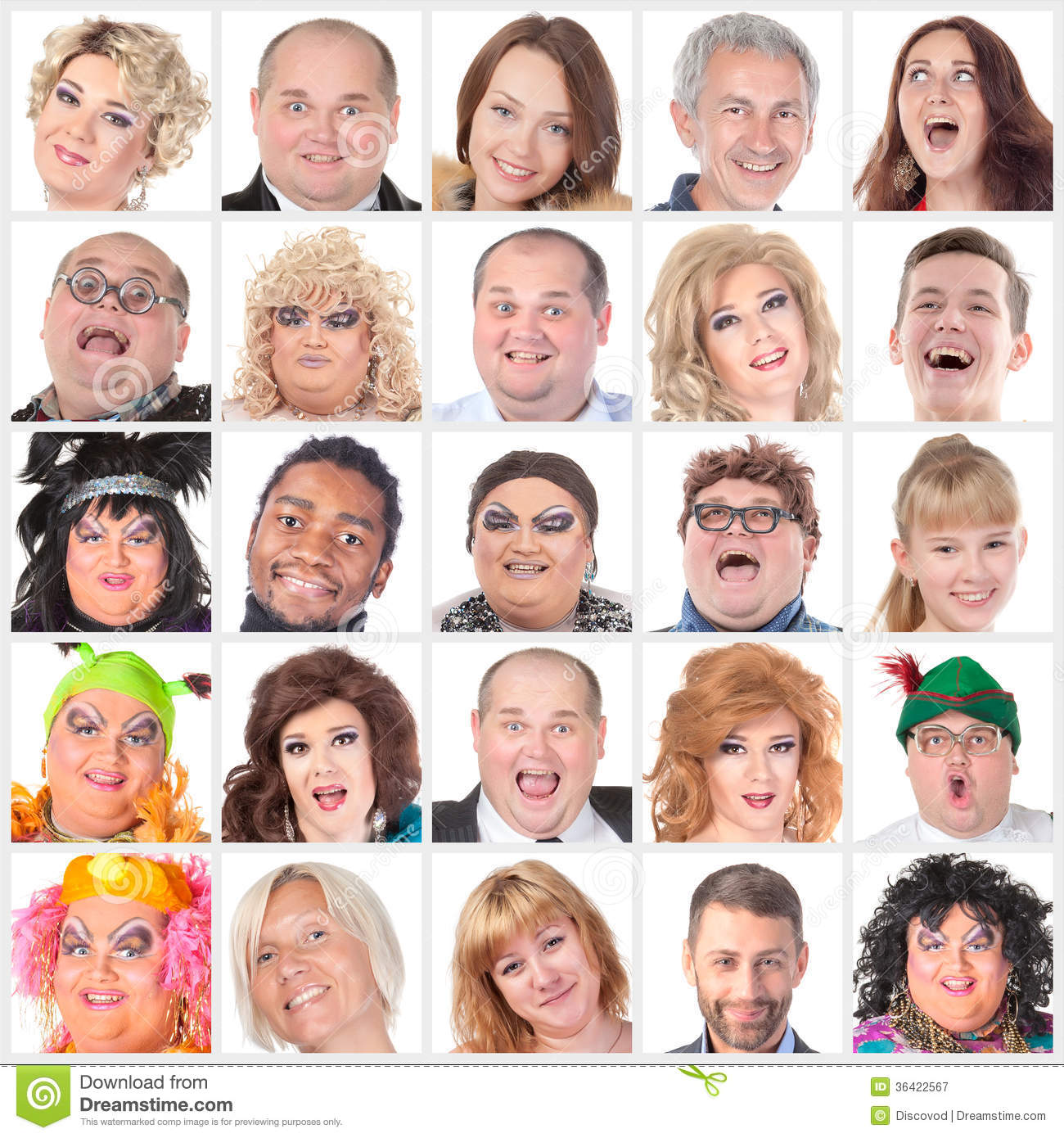 collage of many different happy human faces stock image image of
