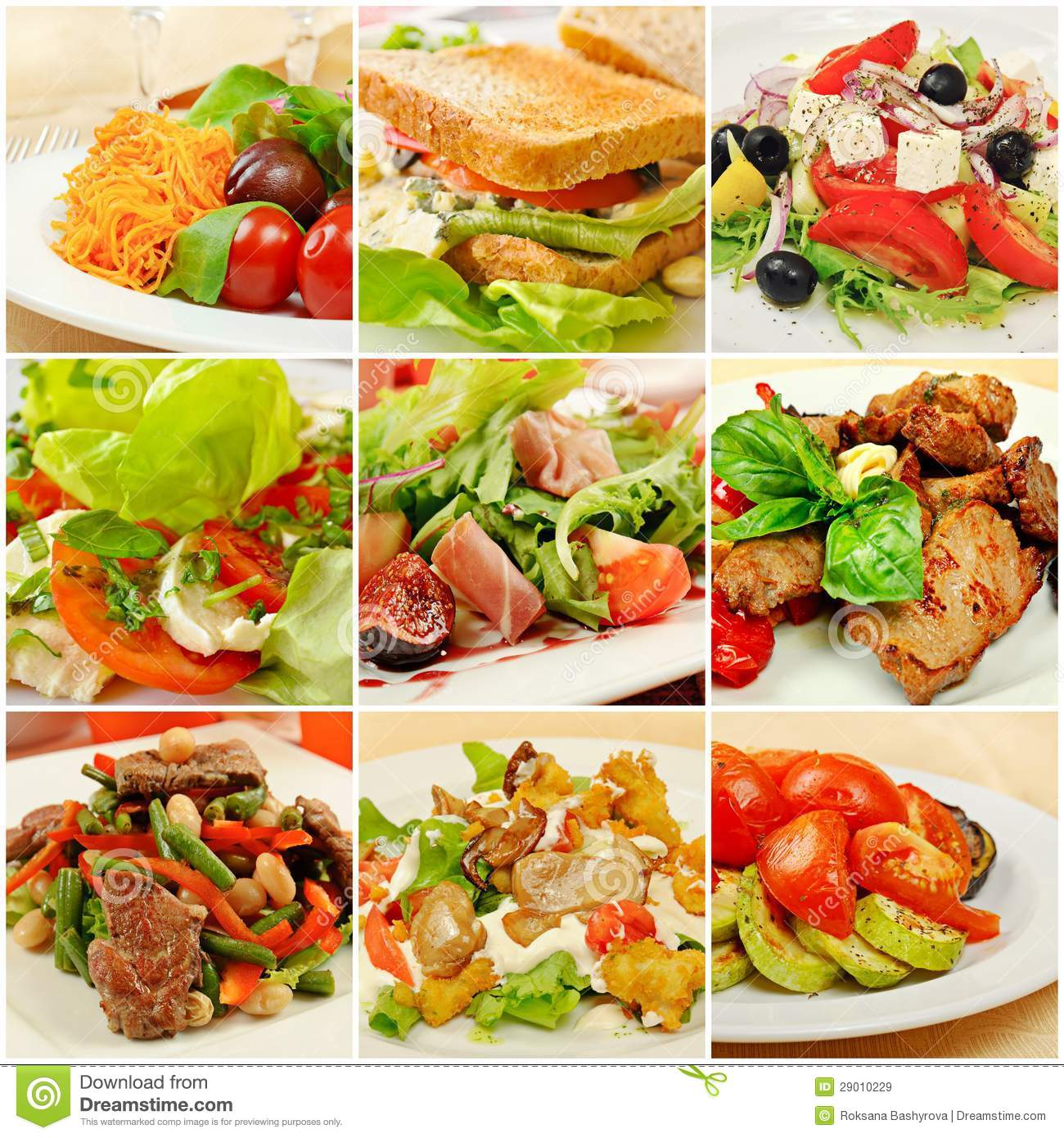 Collage with meals stock image image of cook closeup for Menu comida