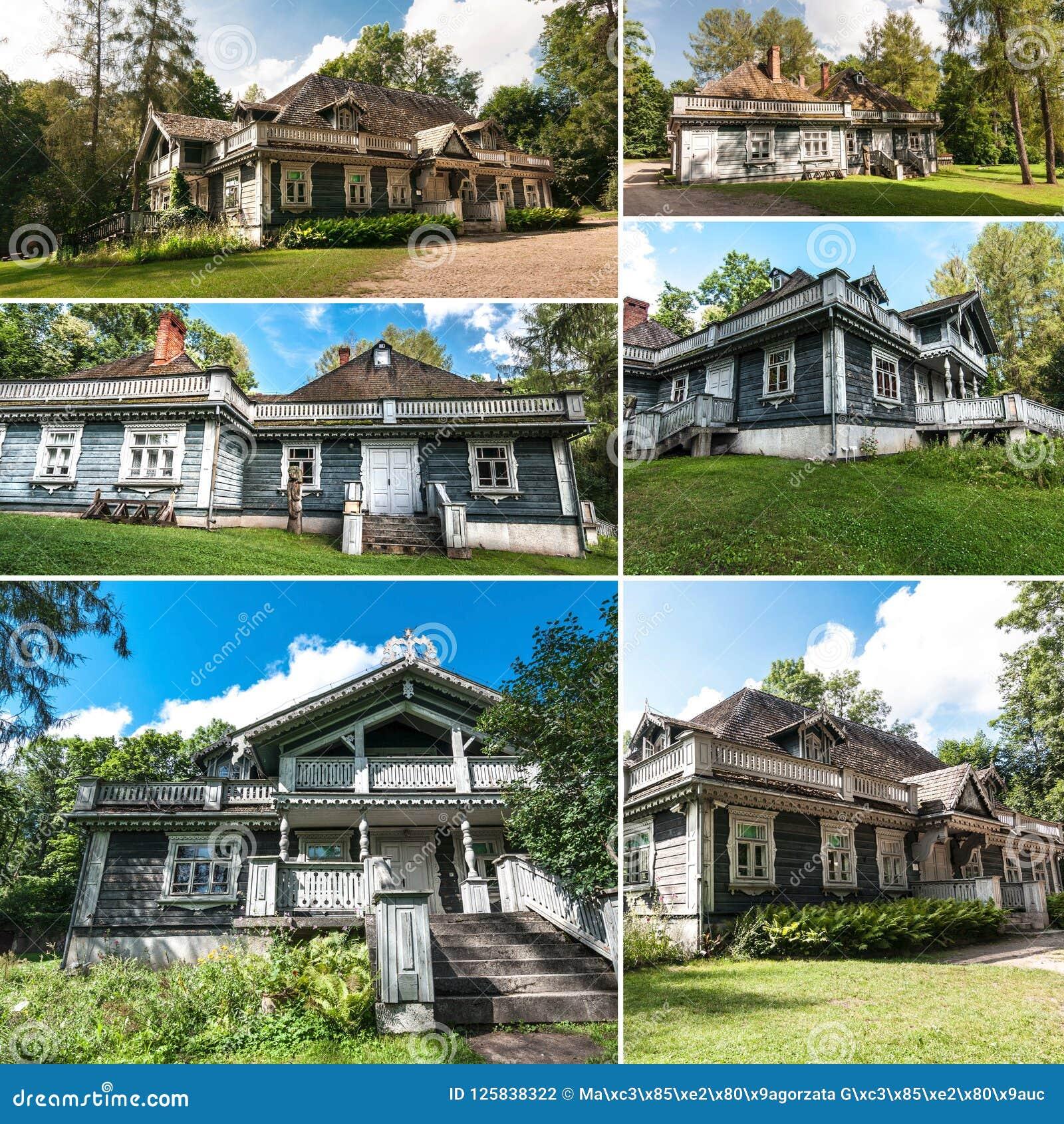 Collage met Bialowieza-manor