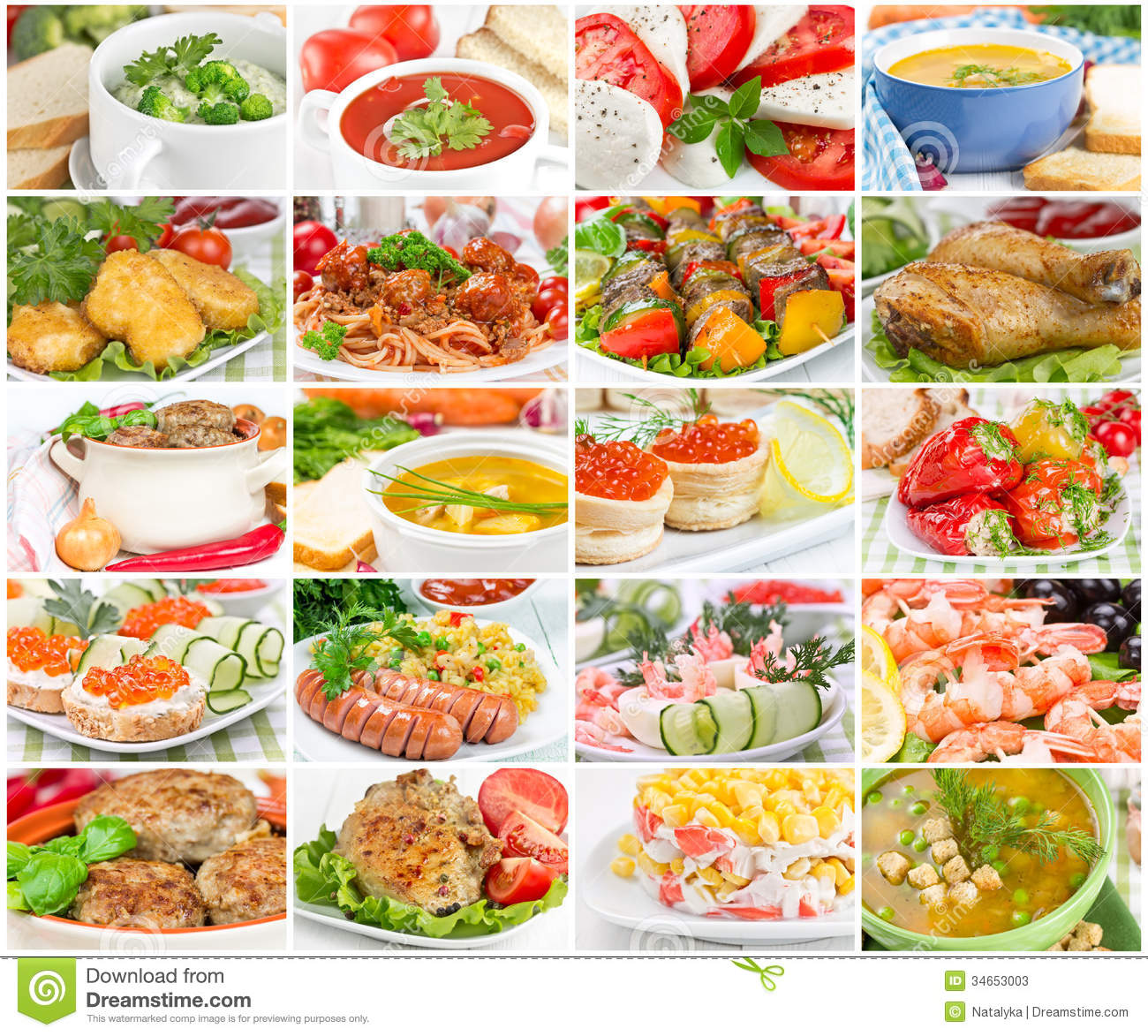 Unhealthy Food Plate Collage off food stock...