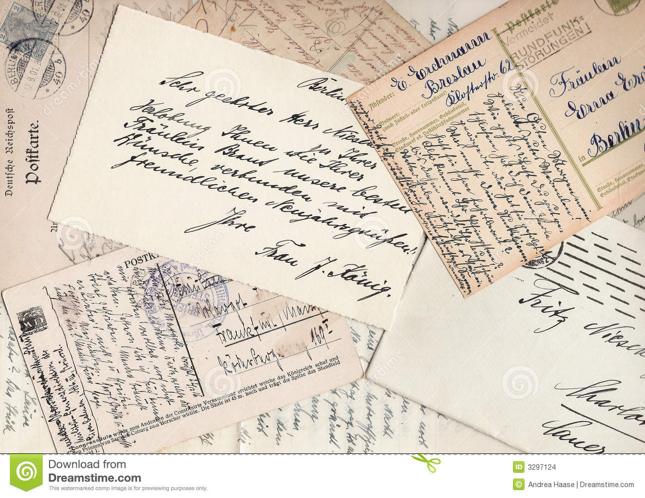 Collage of old letters